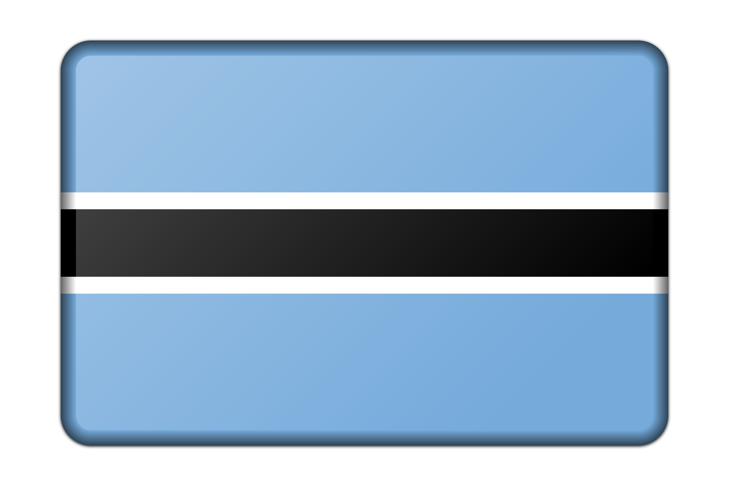 Botswana flag (bevelled) by Firkin
