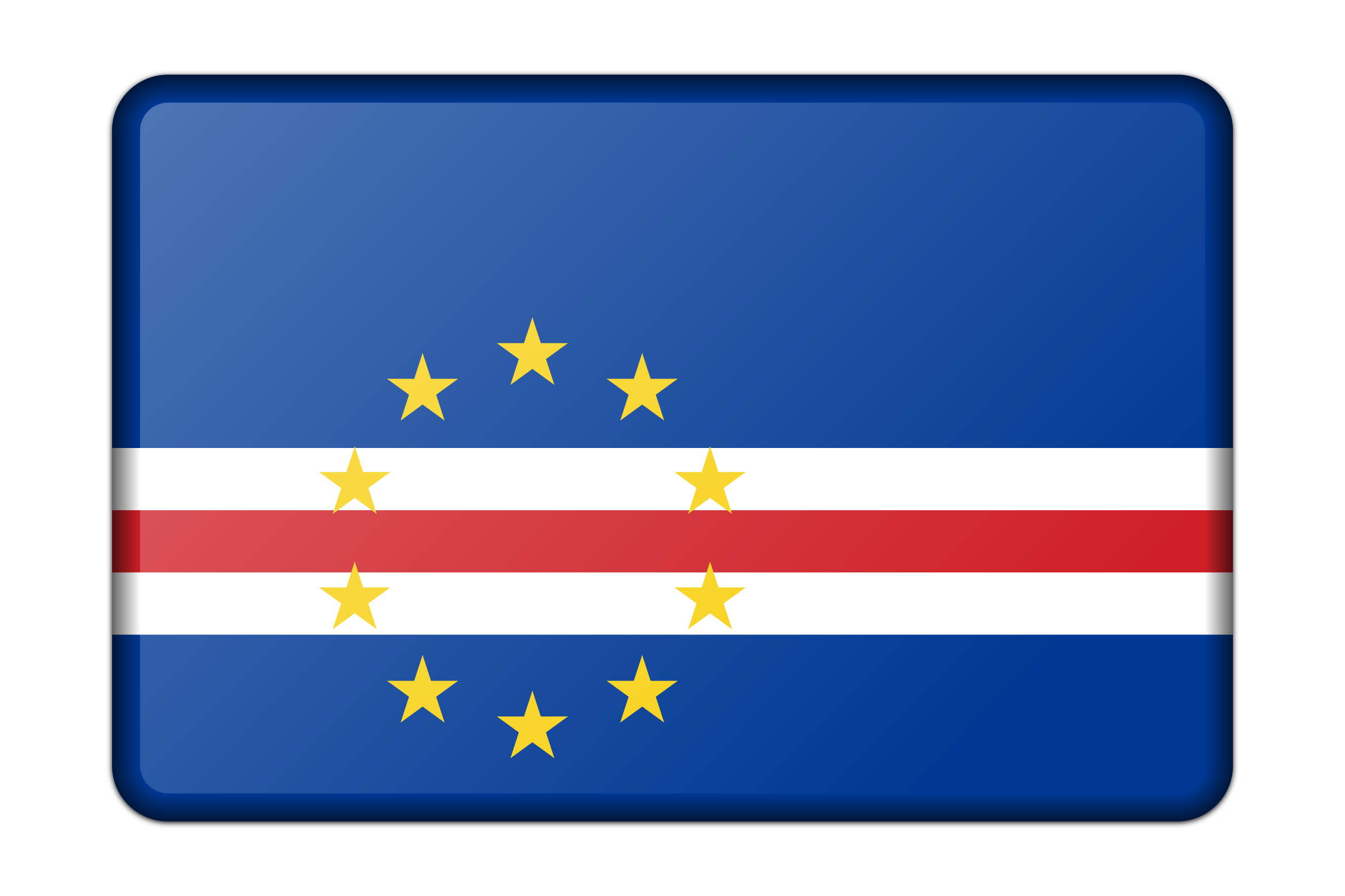 Cape Verde flag (bevelled) by Firkin