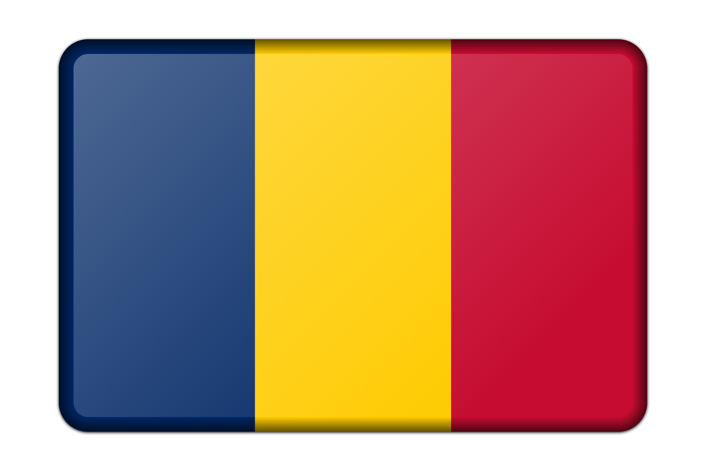 Chad flag (bevelled) by Firkin