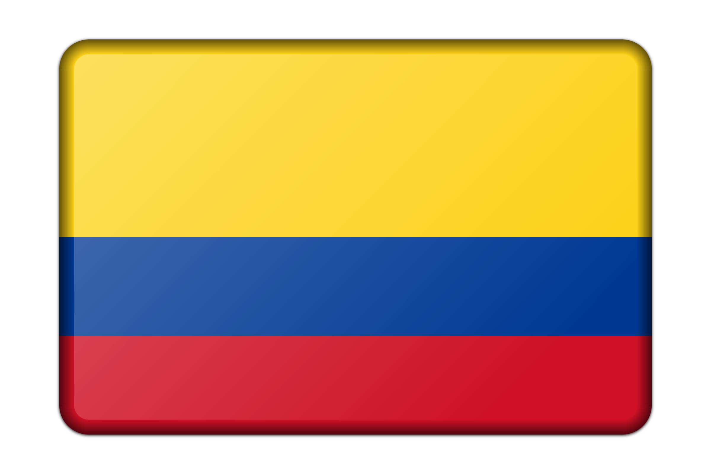 Colombia flag (bevelled) by Firkin