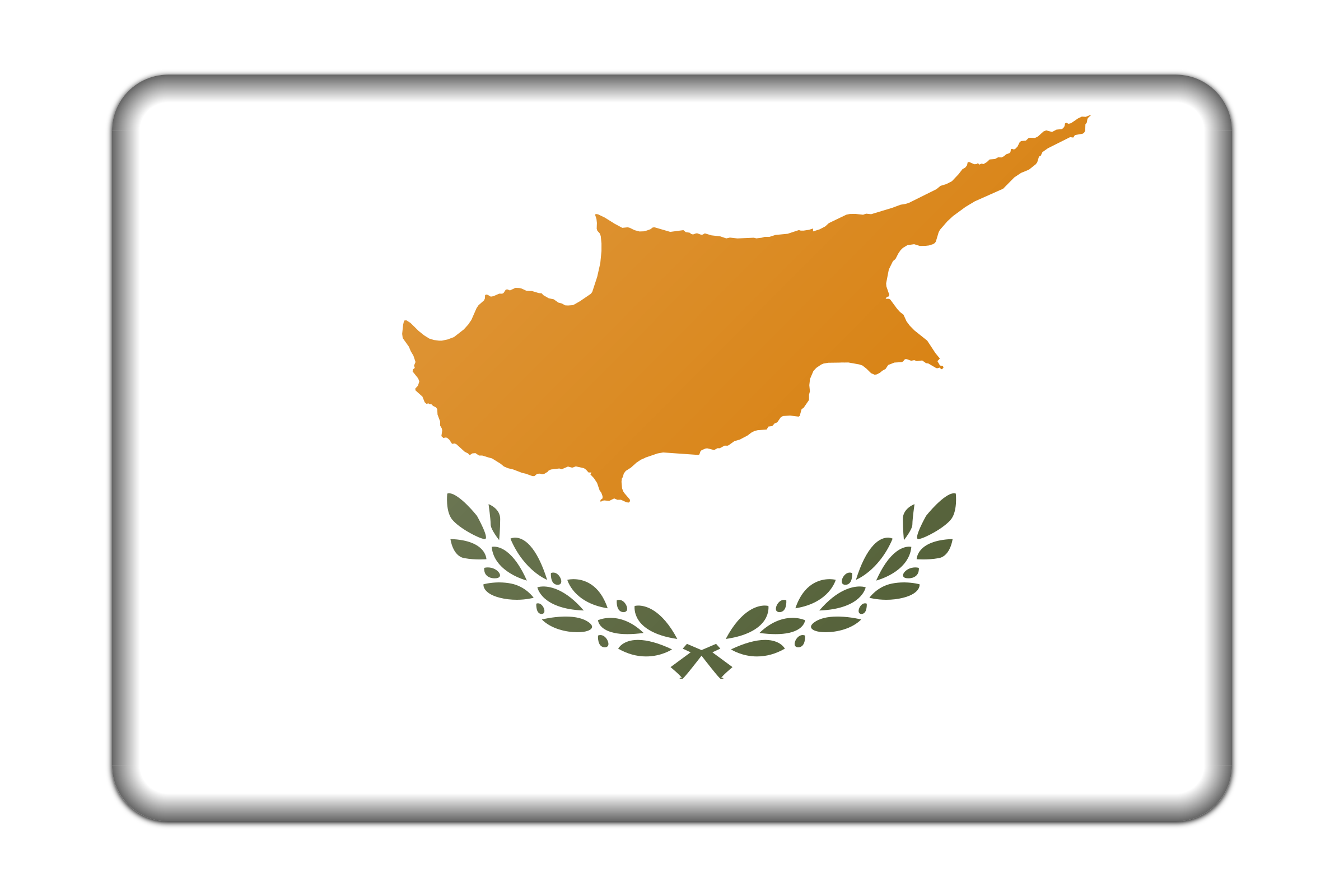 Cyprus flag (bevelled) by Firkin