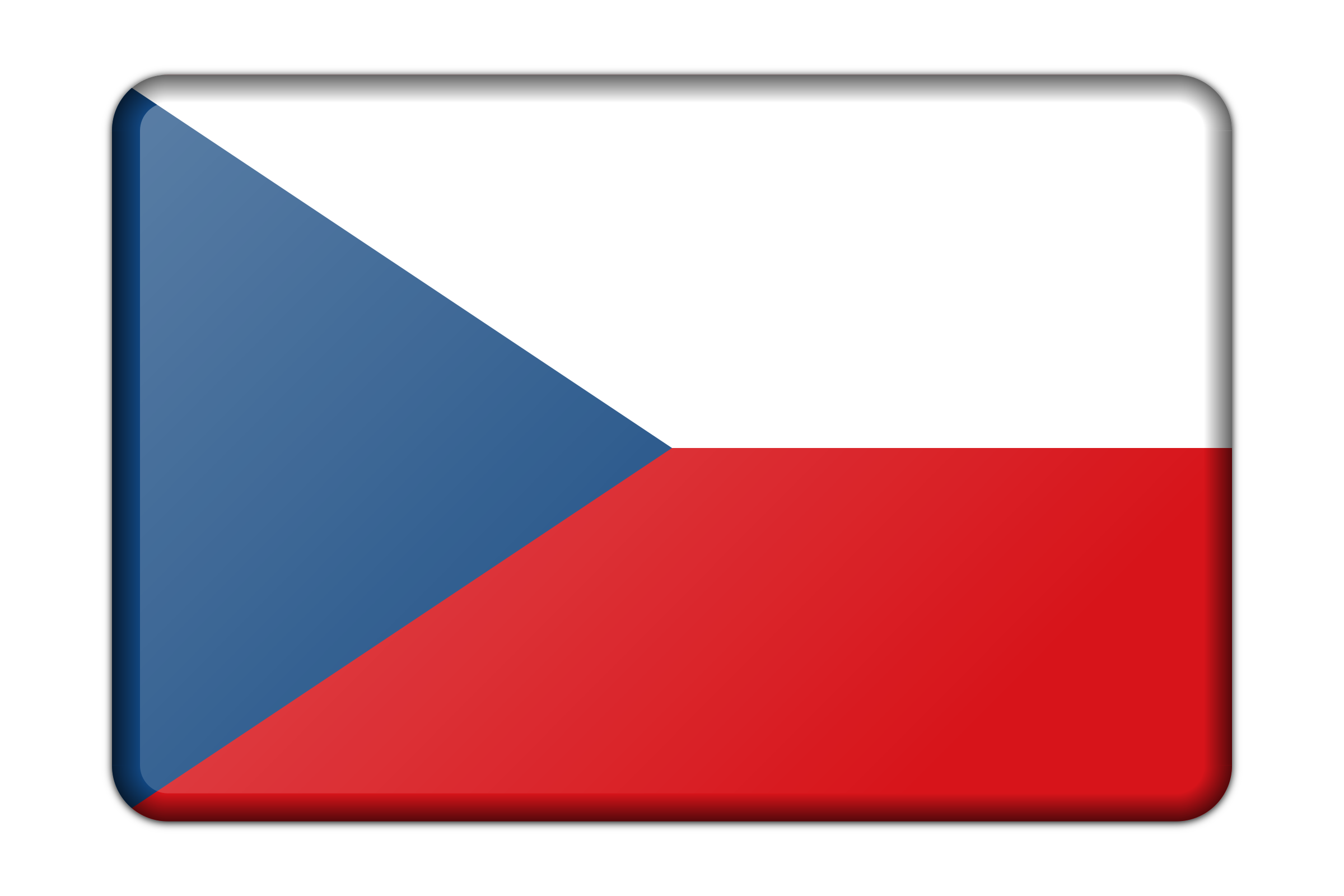 Czech Republic flag (bevelled) by Firkin