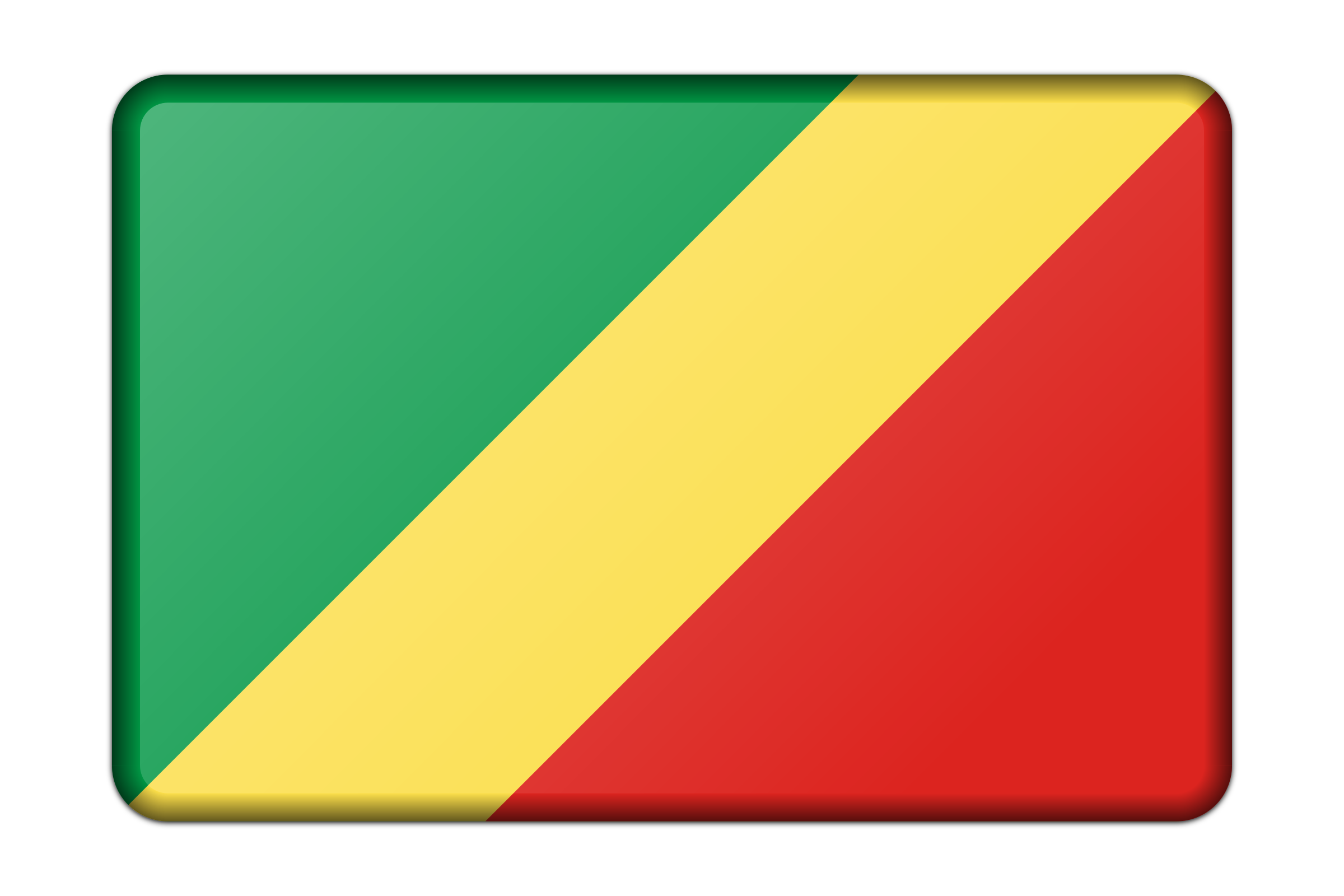 Republic of the Congo flag (bevelled) by Firkin