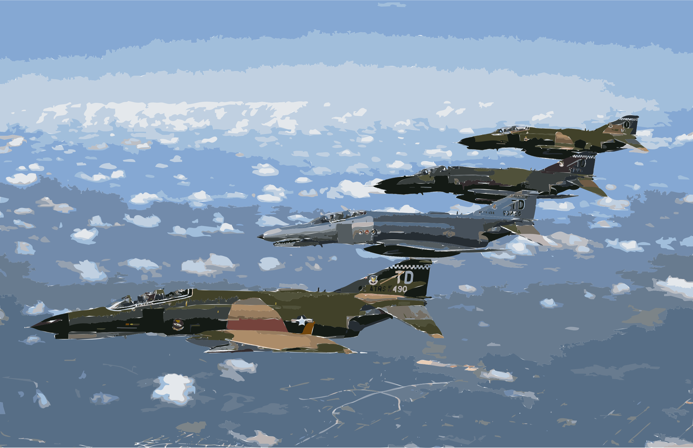 1997 F-4 Heritage Flight over Florida-edit 1 by 3w7y6e+cf5zo76jvomsg