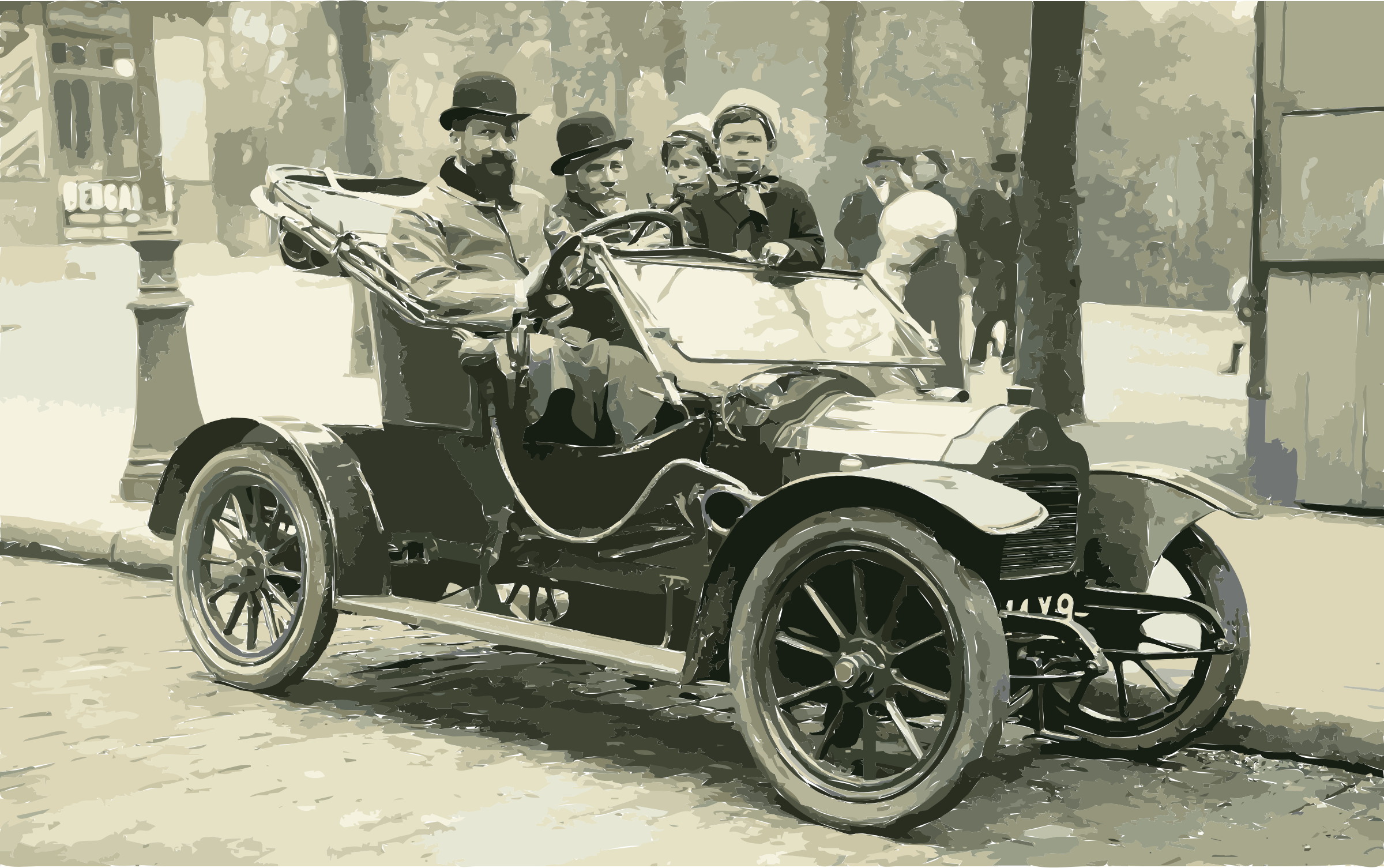 A Brouhot car in Paris, 1910 by 3w7y6e+cf5zo76jvomsg