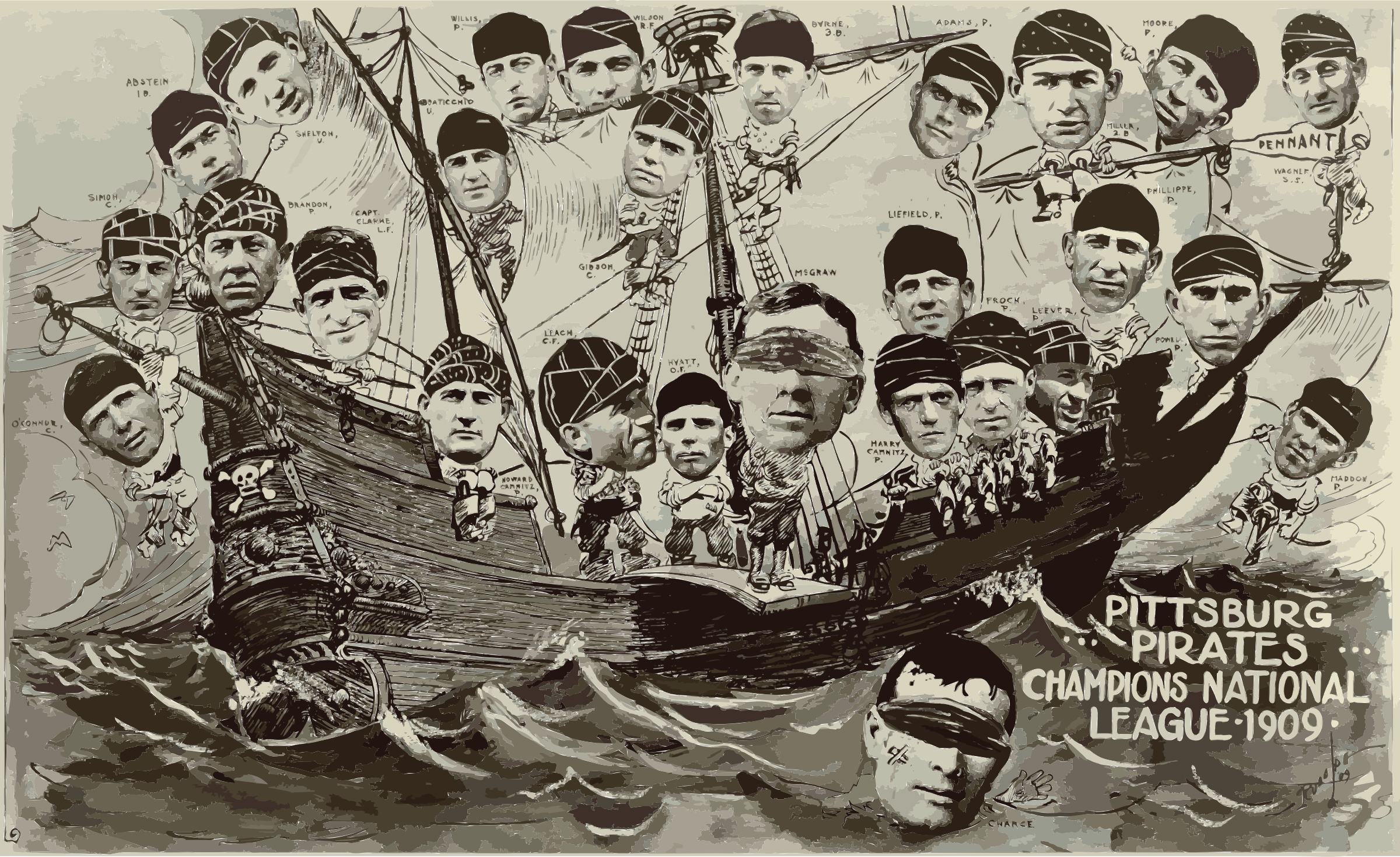 1909 Pittsburgh Pirates on a boat FINAL by 3w8fbs+4hwz16kbwo43s