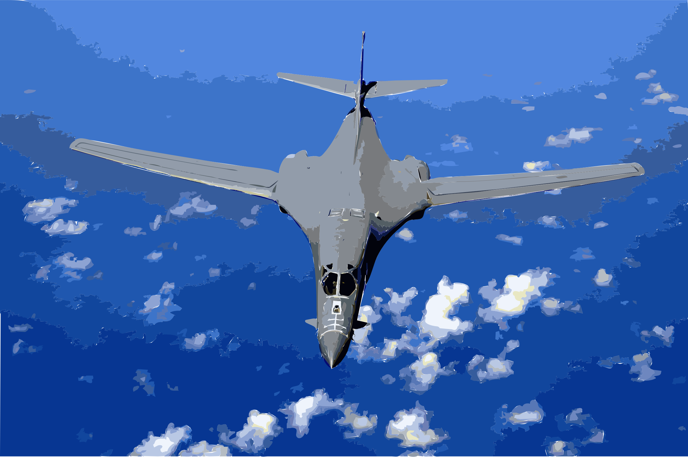 B-1B over the pacific ocean by 3w8x8j+ekad9if2mkux4
