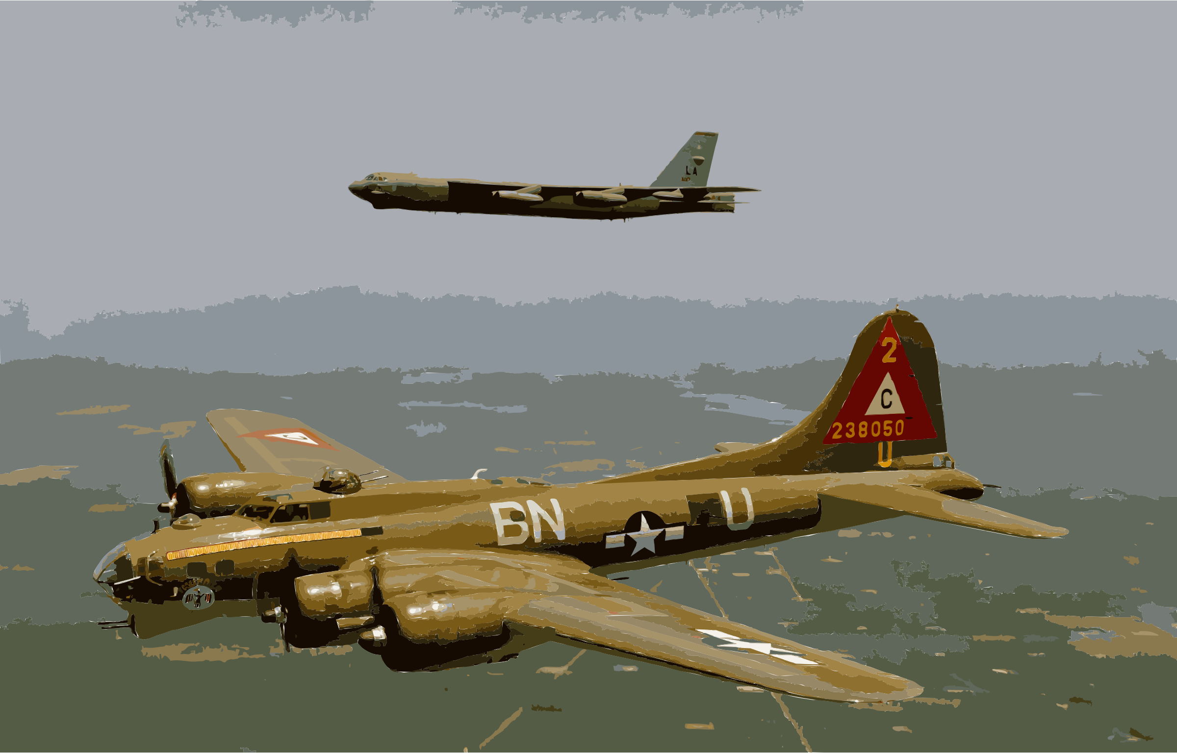 B17g and b52h in flight by 3w8x8j+ekad9if2mkux4