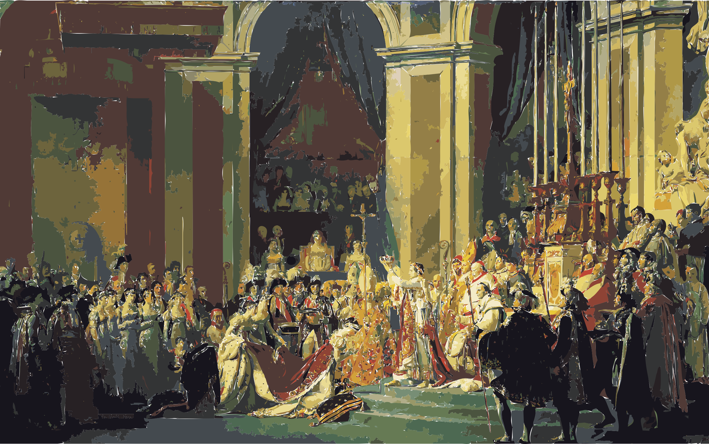 Jacques-Louis David, The Coronation of Napoleon edit by 3we2nn+8w9uc0fun68aw