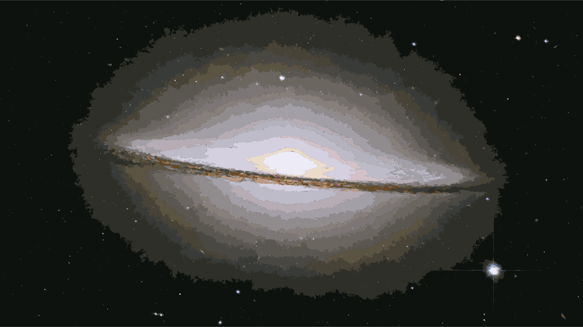 M104 ngc4594 sombrero galaxy hi-res by 3we2nn+8w9uc0fun68aw