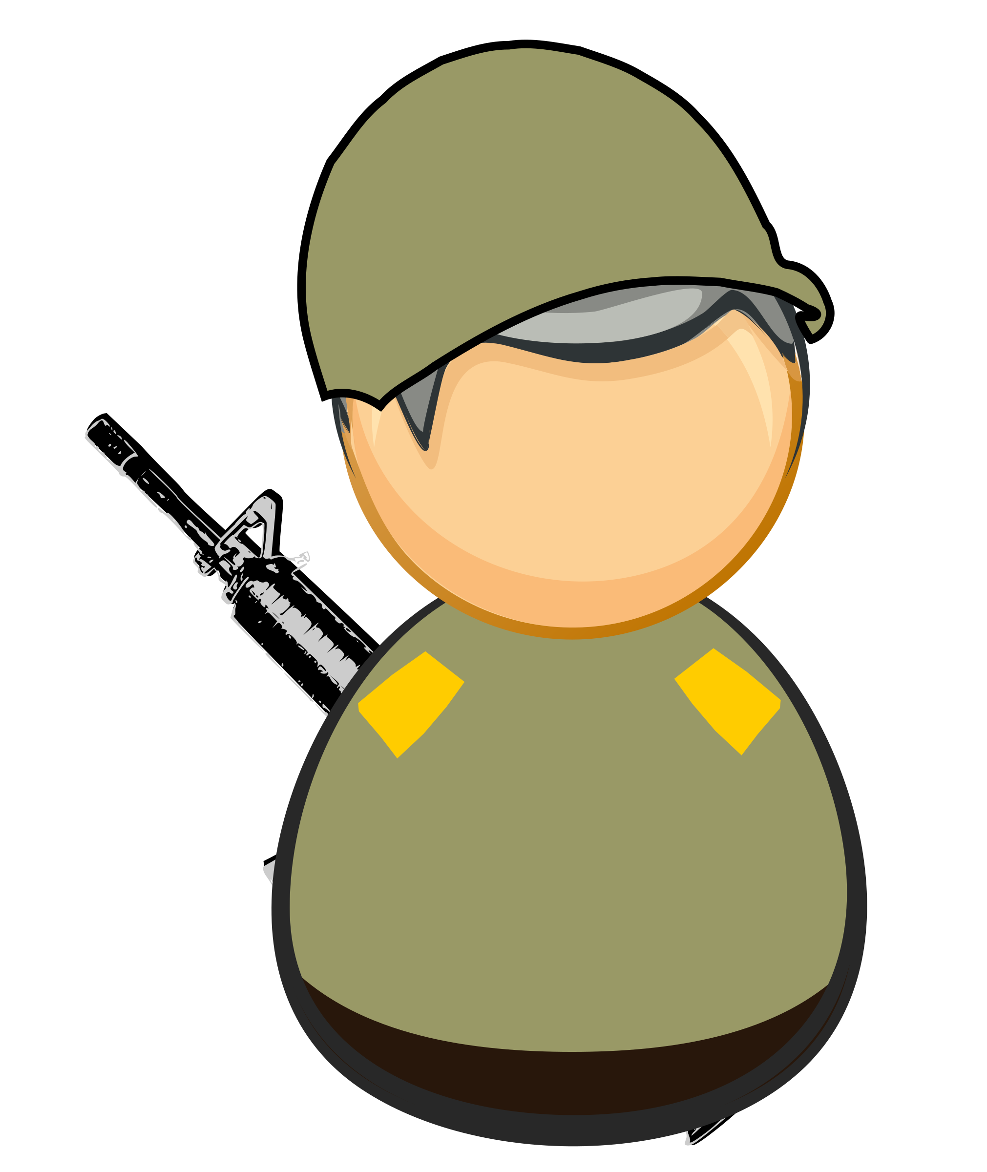 First responder icon - army / soldier by Juhele