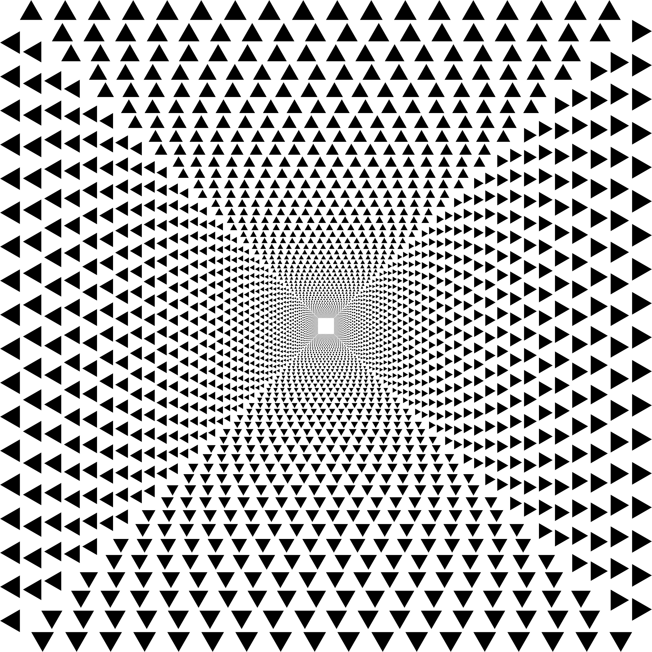 Hypnotic Triangular Vortex by GDJ