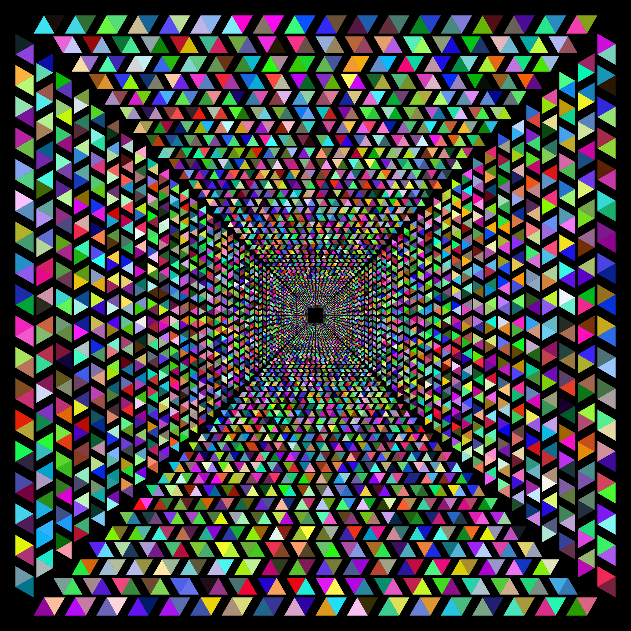 Hypnotic Triangular Vortex 3 by GDJ