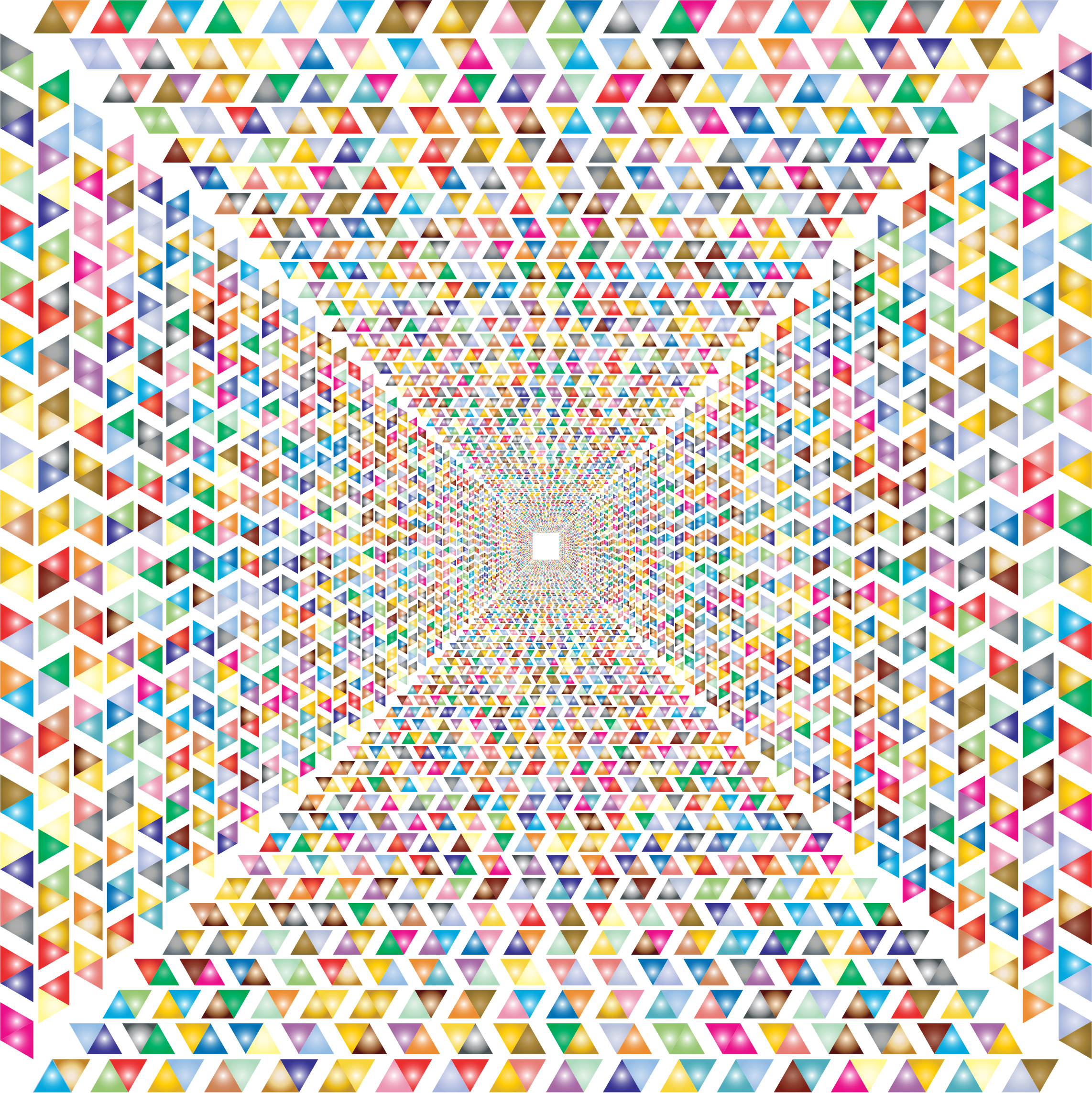 Hypnotic Triangular Vortex 4 No Background by GDJ