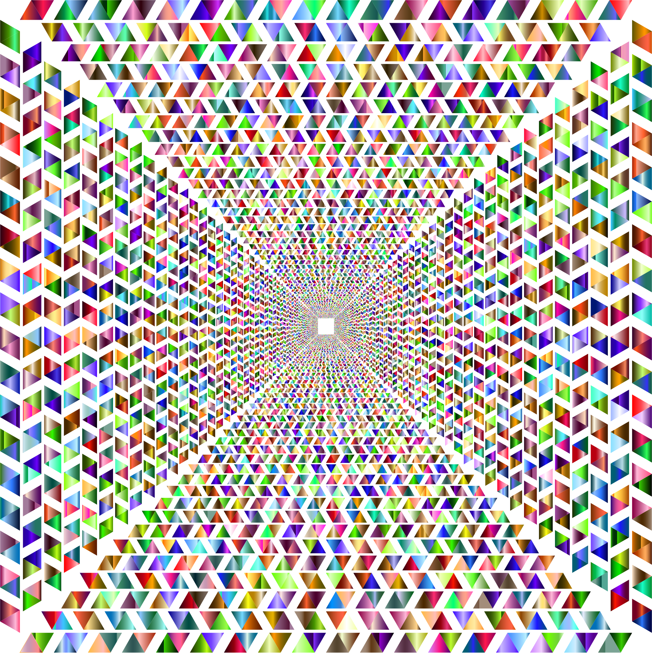 Hypnotic Triangular Vortex 5 No Background by GDJ