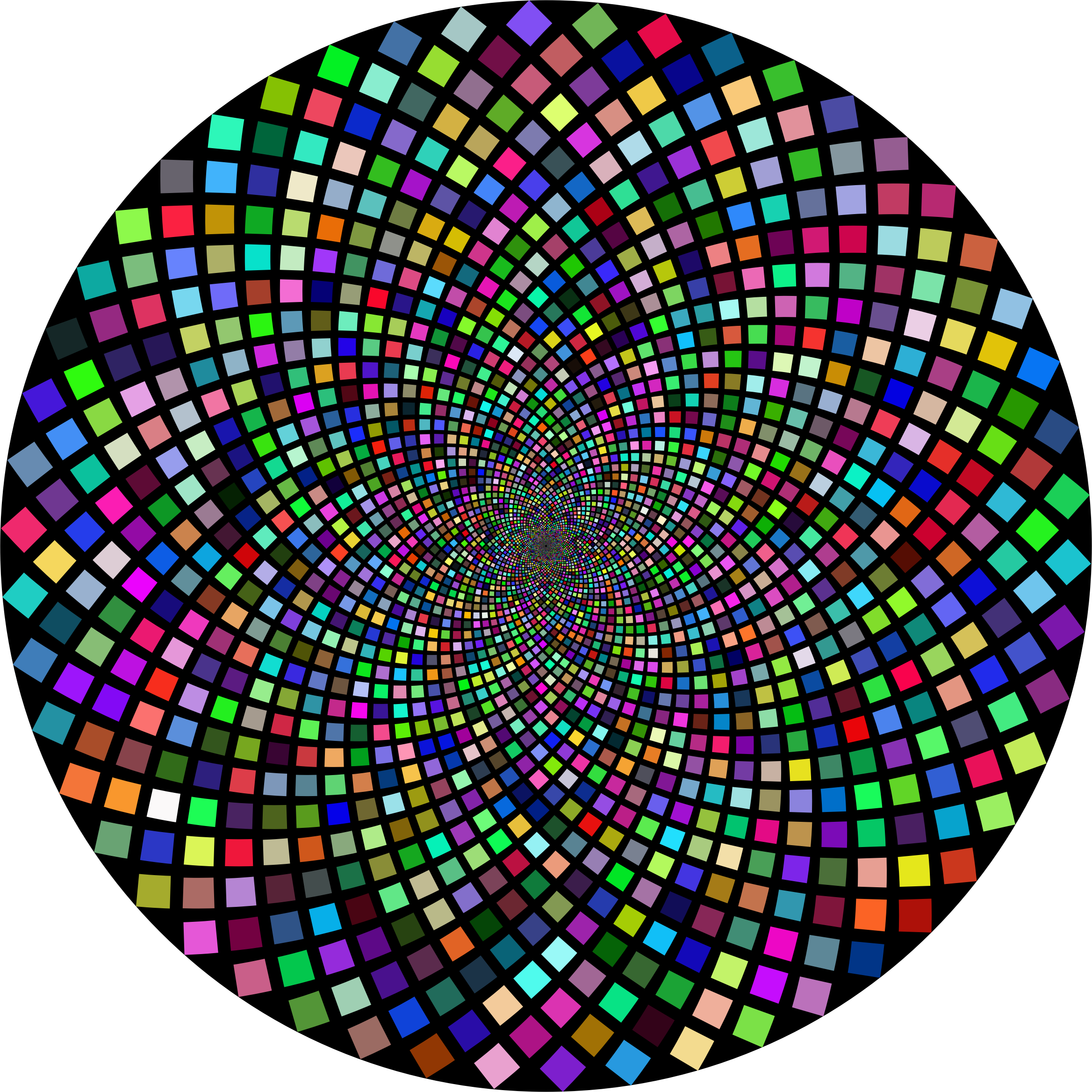 Hypnotic Checkerboard Vortex 3 by GDJ