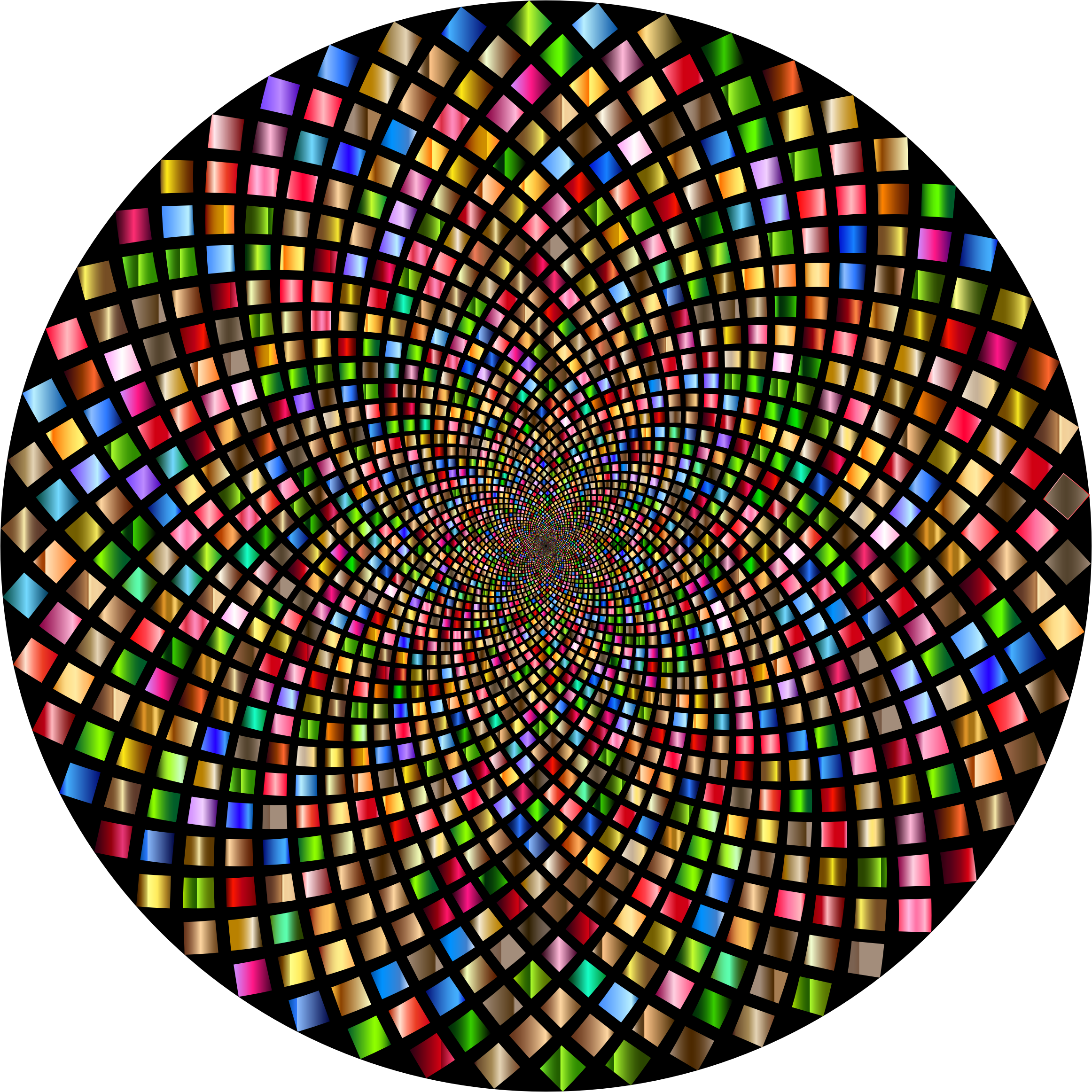 Hypnotic Checkerboard Vortex 4 by GDJ