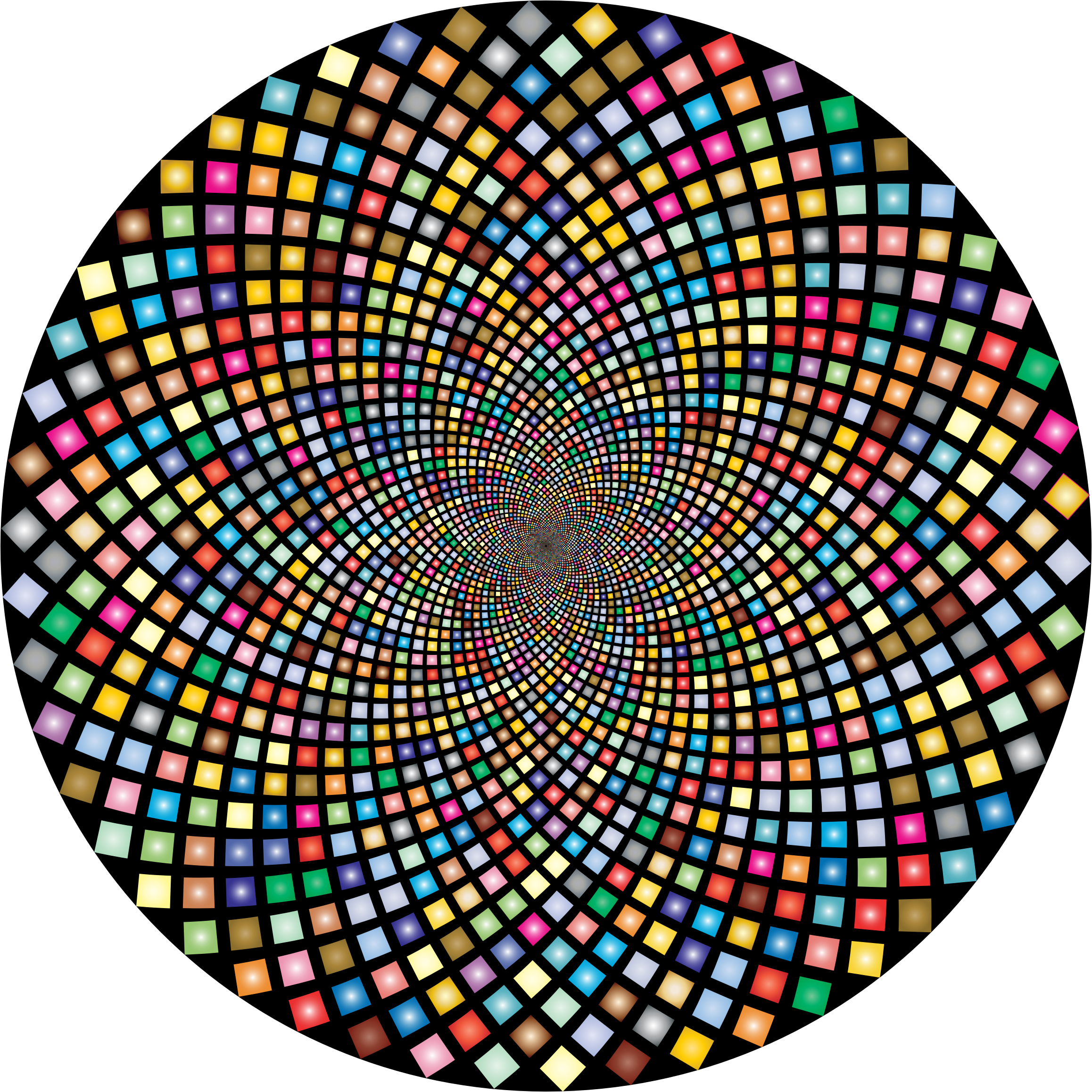 Hypnotic Checkerboard Vortex 5 by GDJ