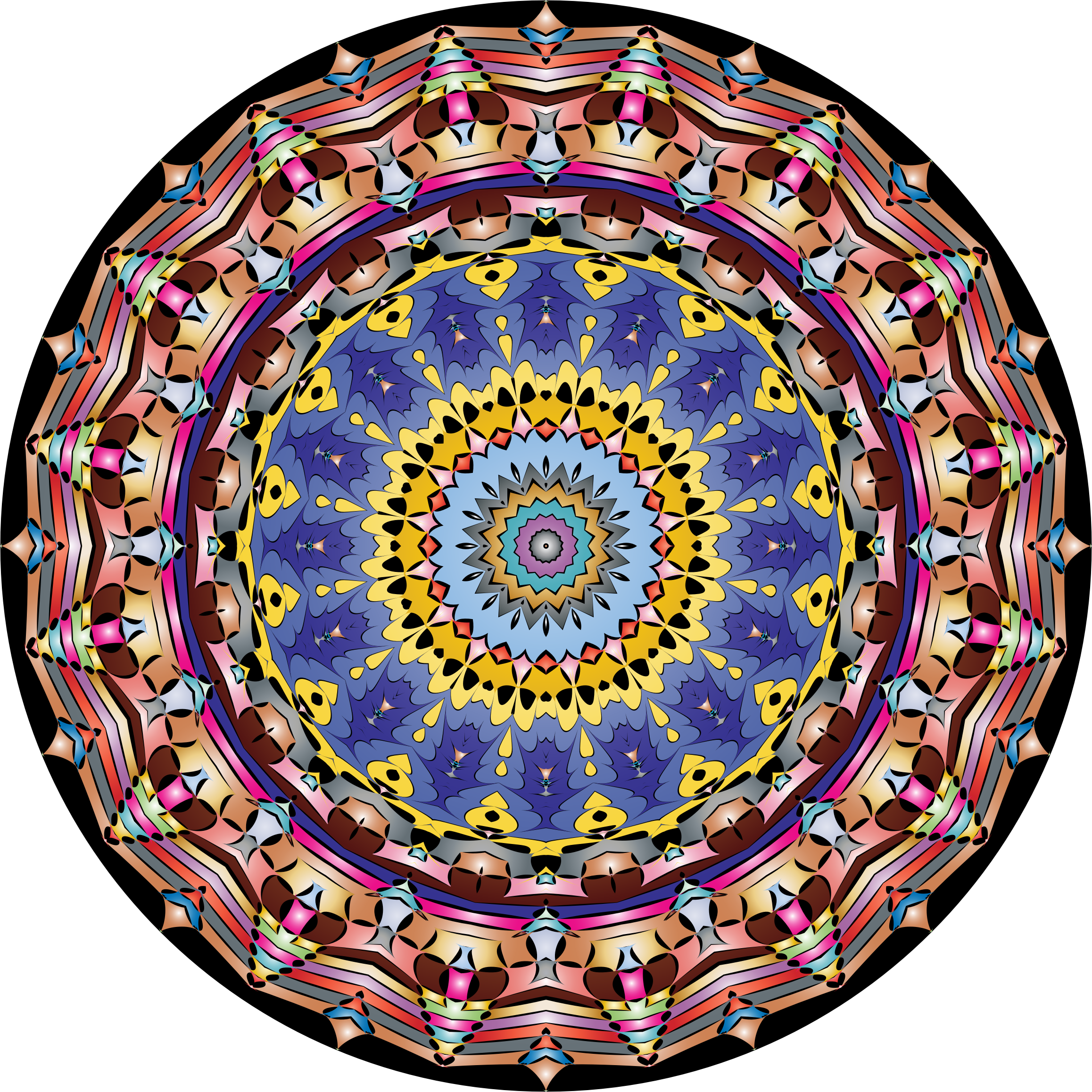 Kaleidoscopic Mandala 3 by GDJ