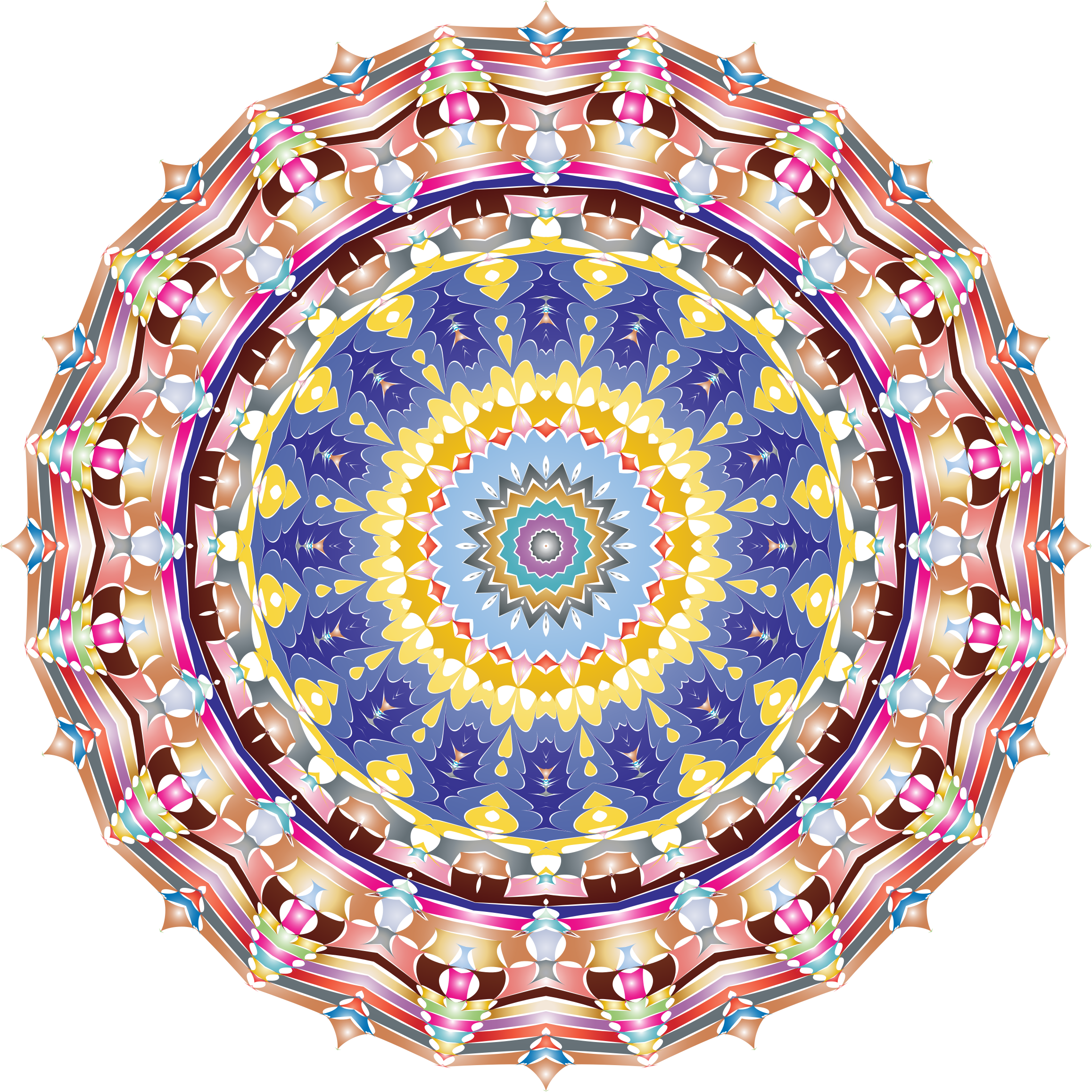 Kaleidoscopic Mandala 3 No Backgorund by GDJ