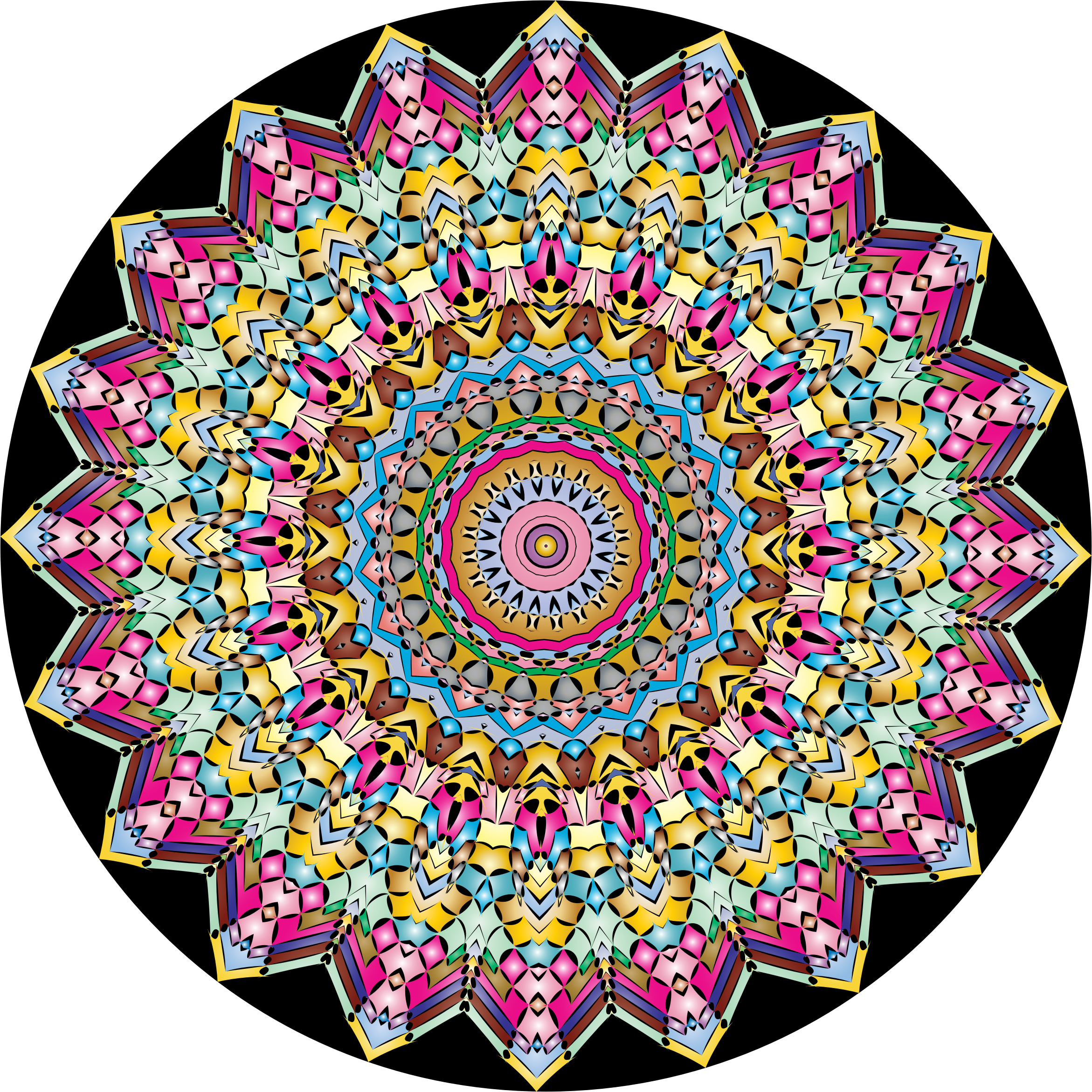 Kaleidoscopic Mandala 4 by GDJ