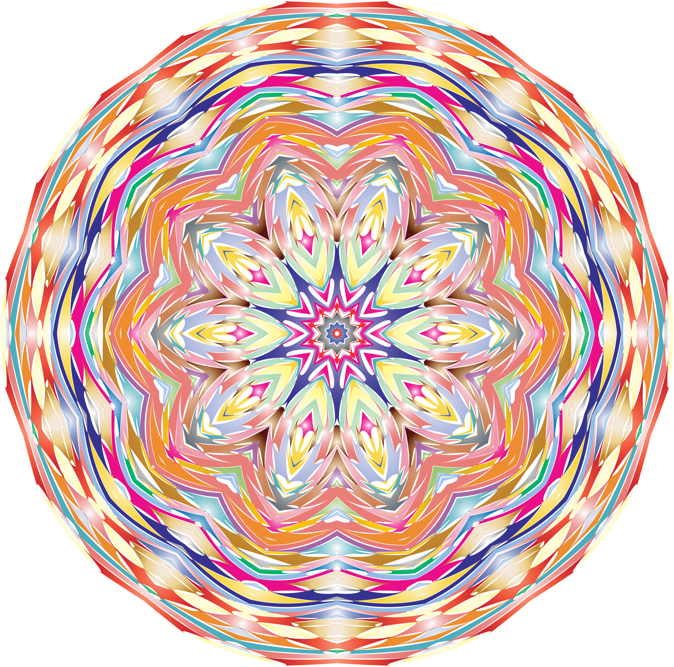 Kaleidoscopic Mandala 6 No Backgorund by GDJ