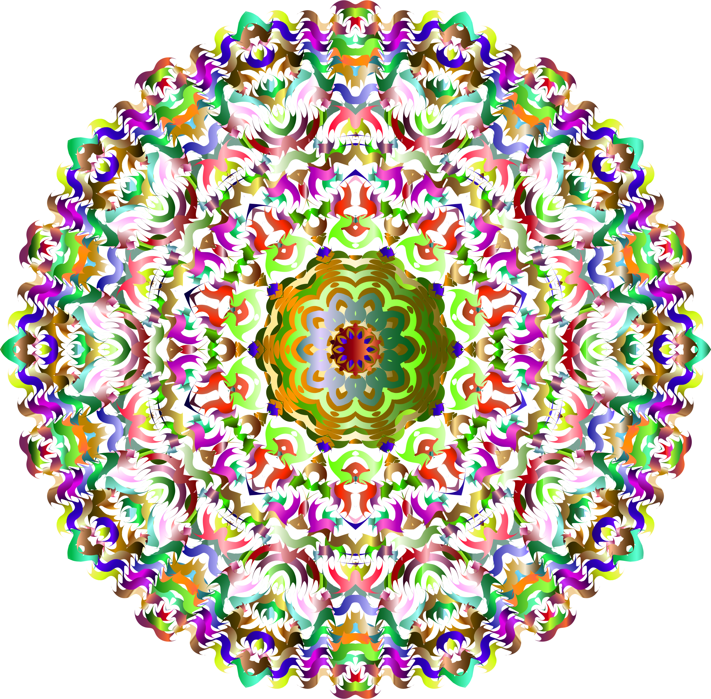 Kaleidoscopic Mandala 7 No Background by GDJ
