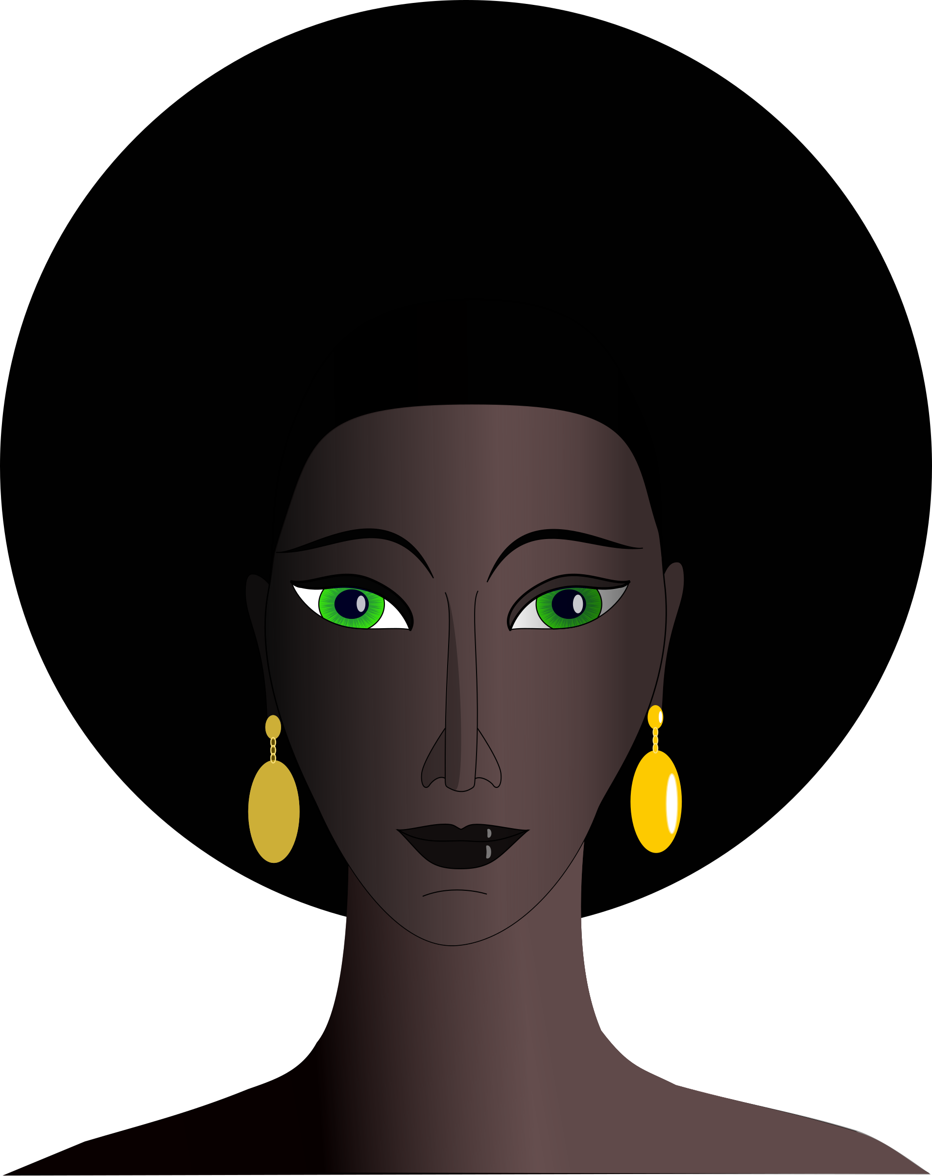 black woman with green eyes by Machovka