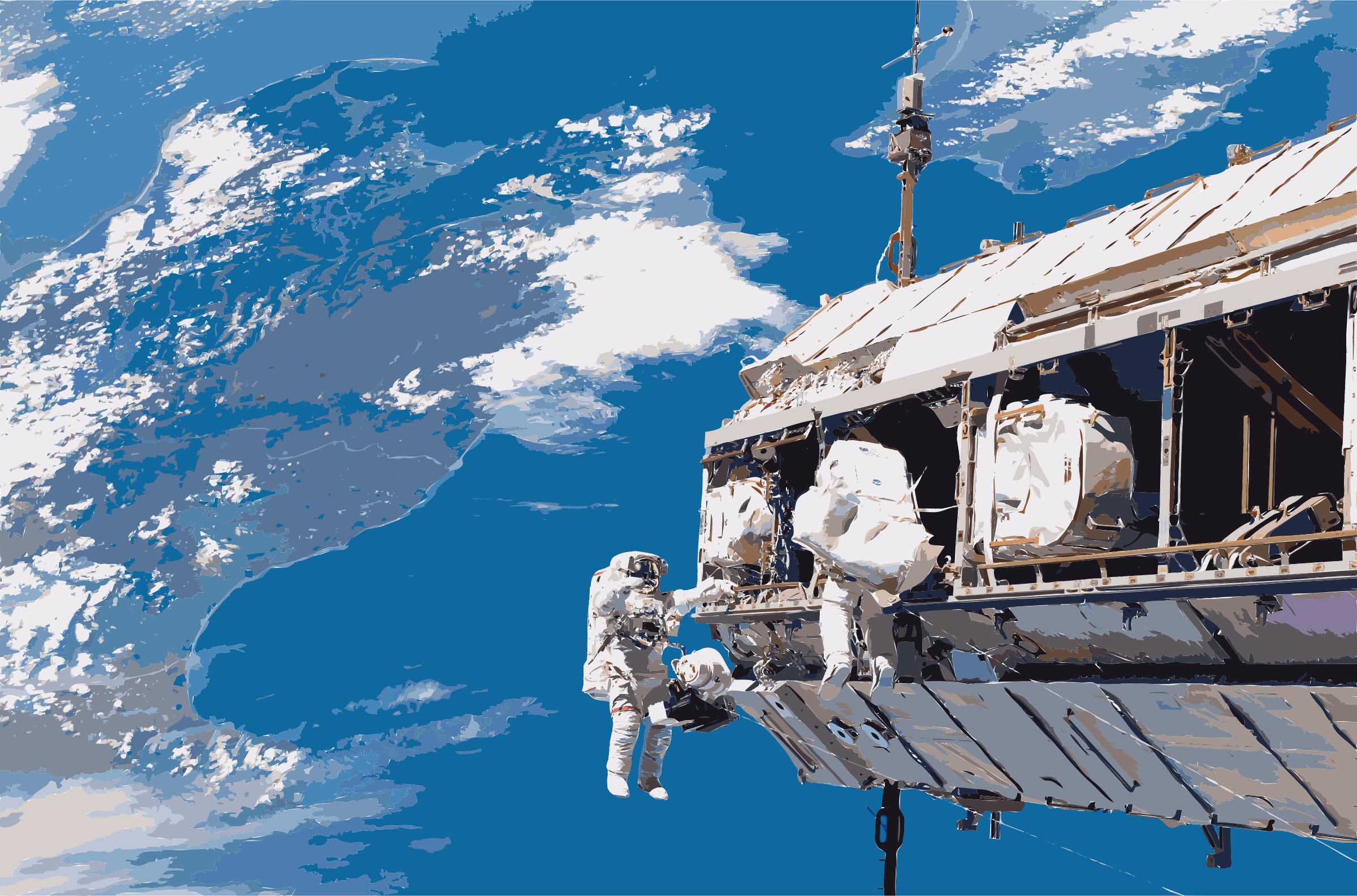 STS-116 spacewalk 1 by 3wfccu+dfr7lirxlbqkc