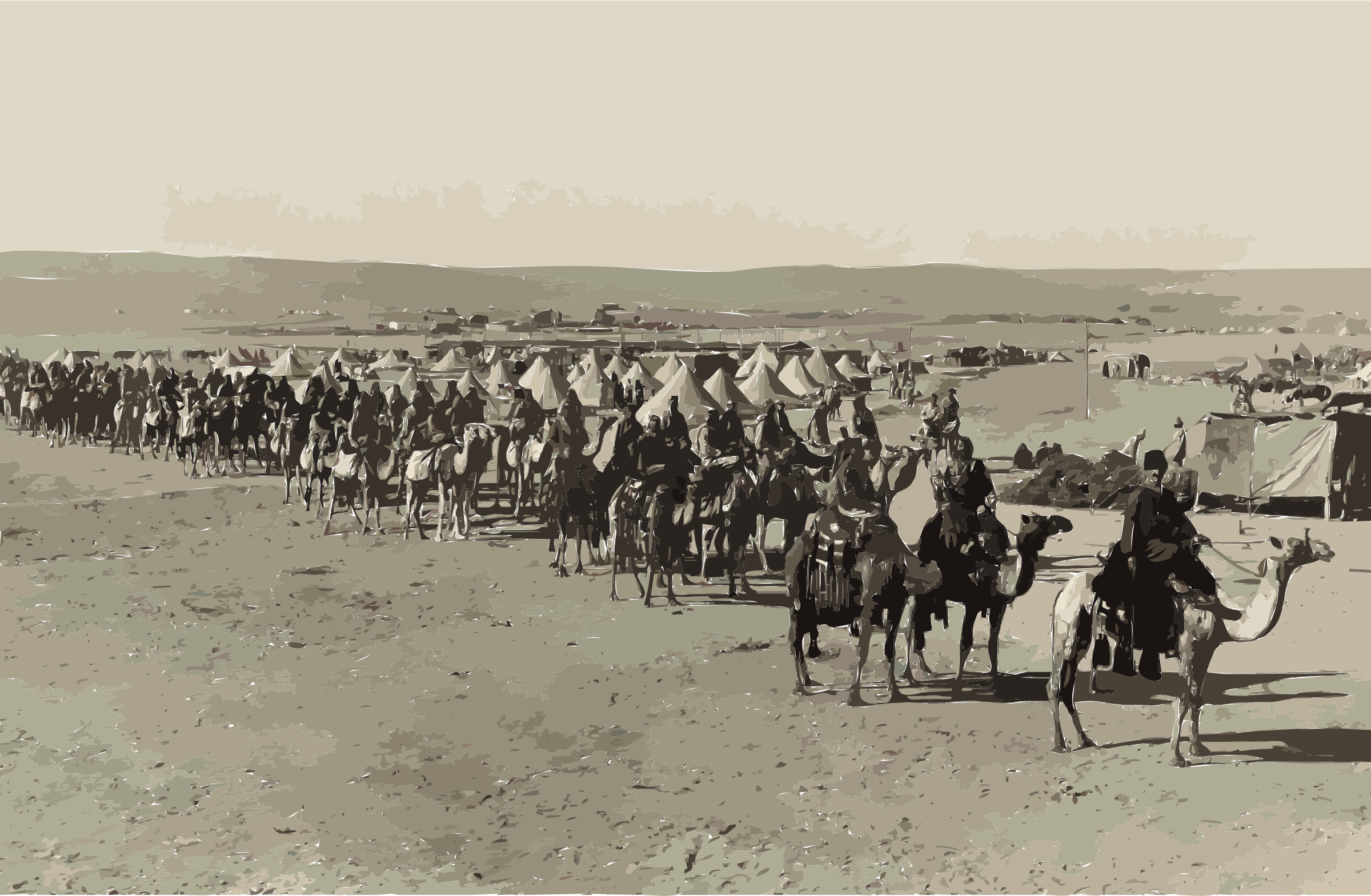 The camel corps at Beersheba2 by 3wfccu+dfr7lirxlbqkc