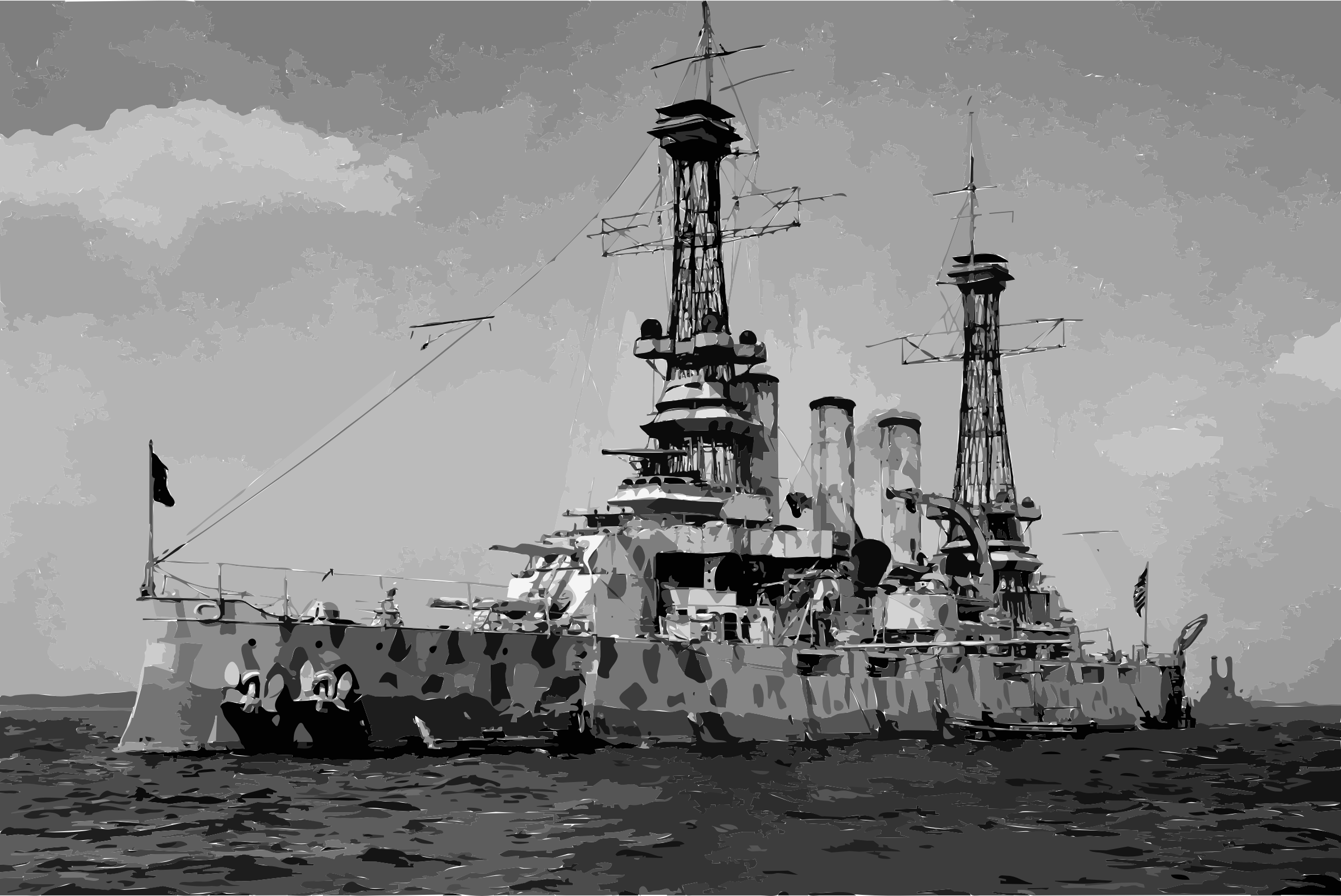 USS New Jersey (BB-16) in camouflage coat, 1918 edit by 3wftji+3tx2o9awq2oz0