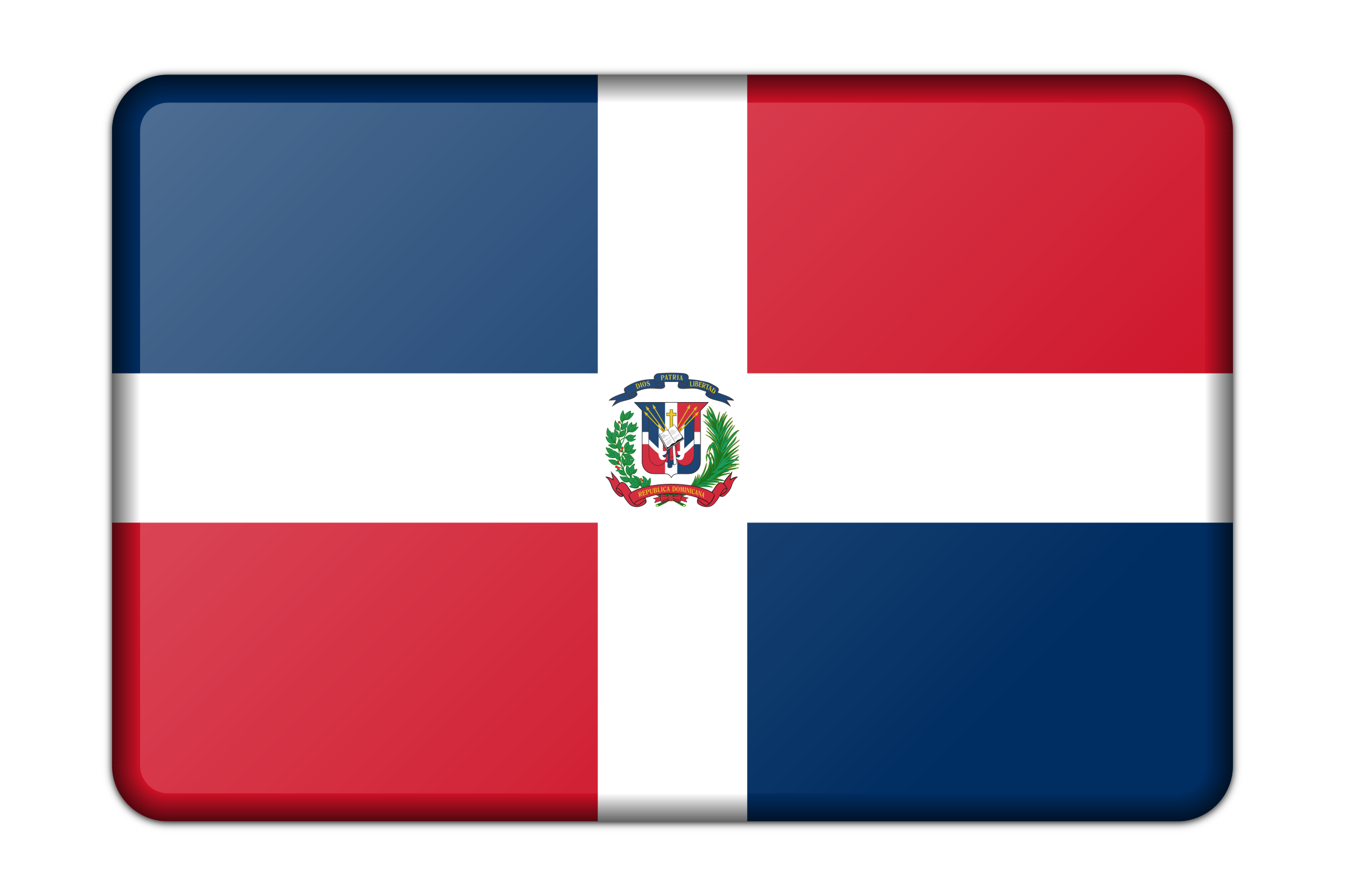 Dominican Republic flag (bevelled) by Firkin