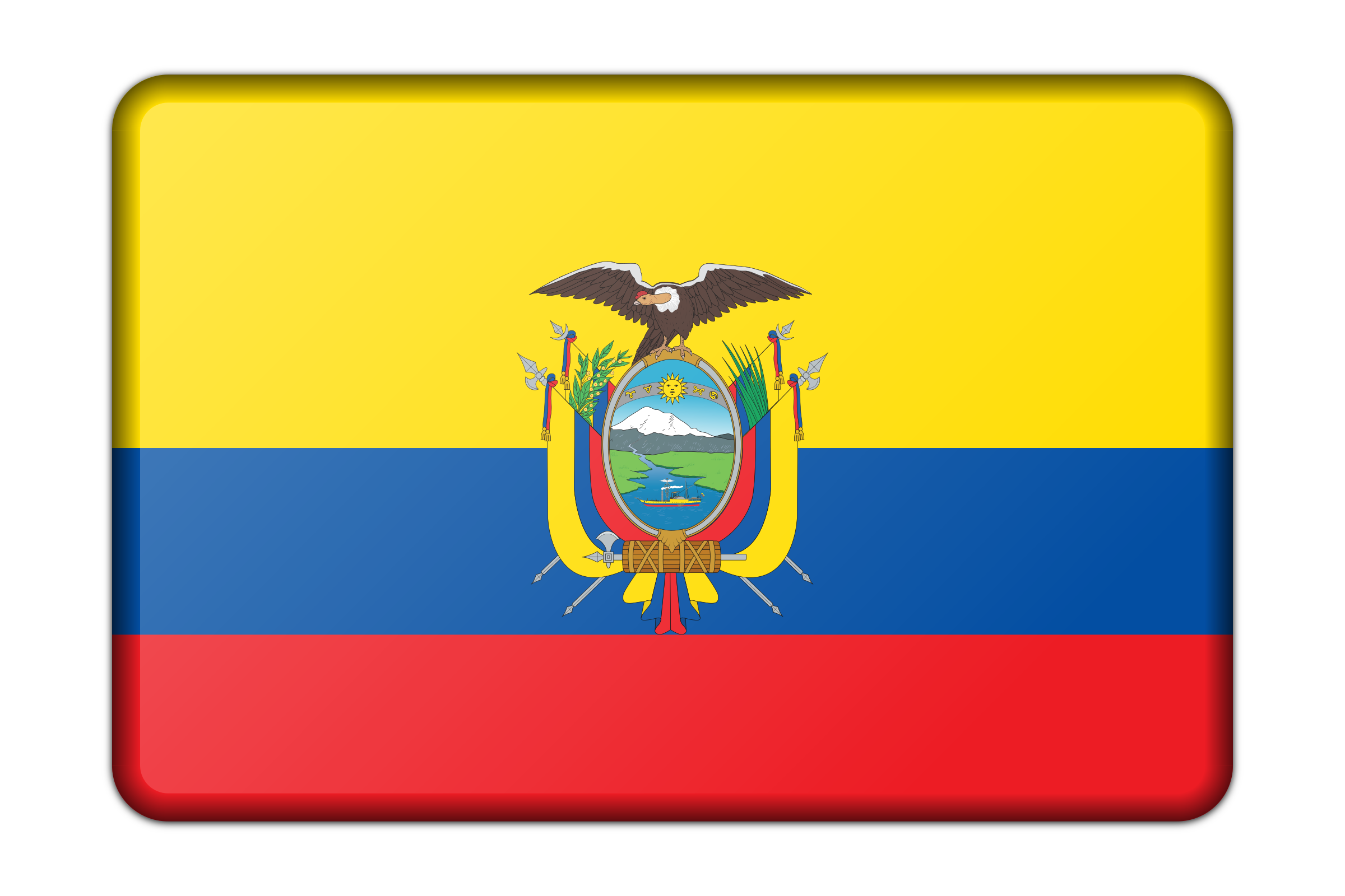 Office decoration pictures - Ecuador Flag Bevelled By Firkin