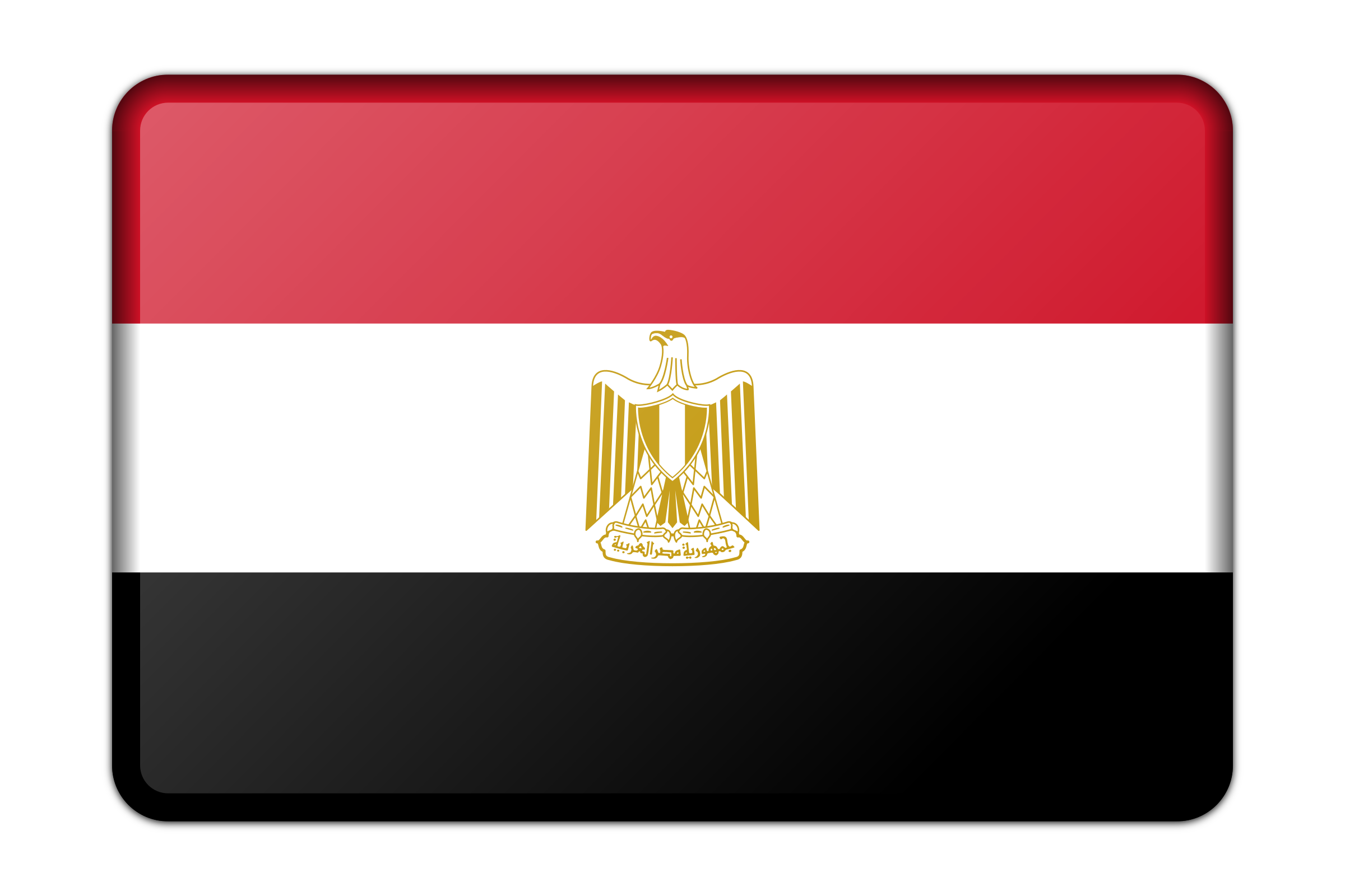 Egypt flag (bevelled) by Firkin