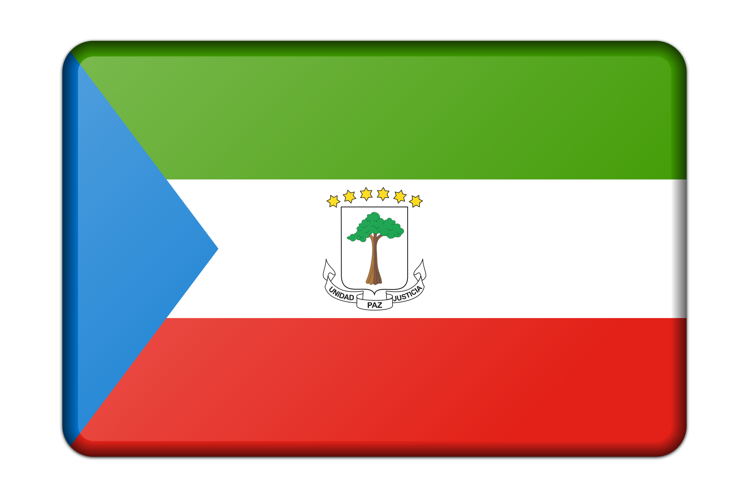 Equatorial Guinea flag (bevelled) by Firkin