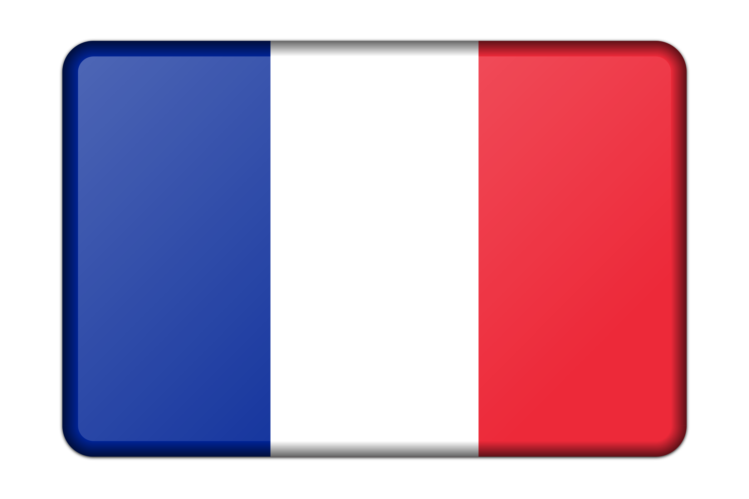 France flag (bevelled) by Firkin