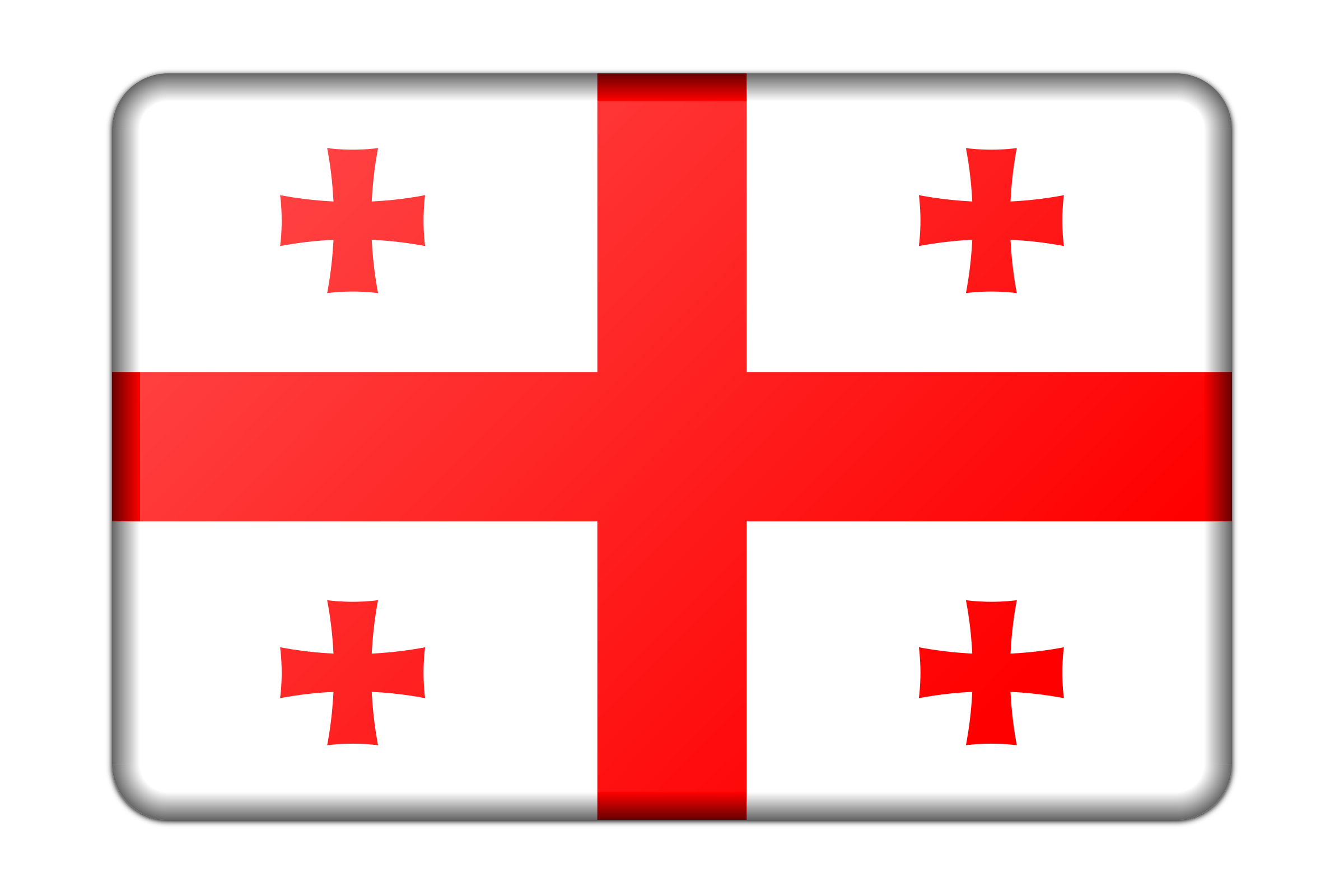 Georgia flag (bevelled) by Firkin