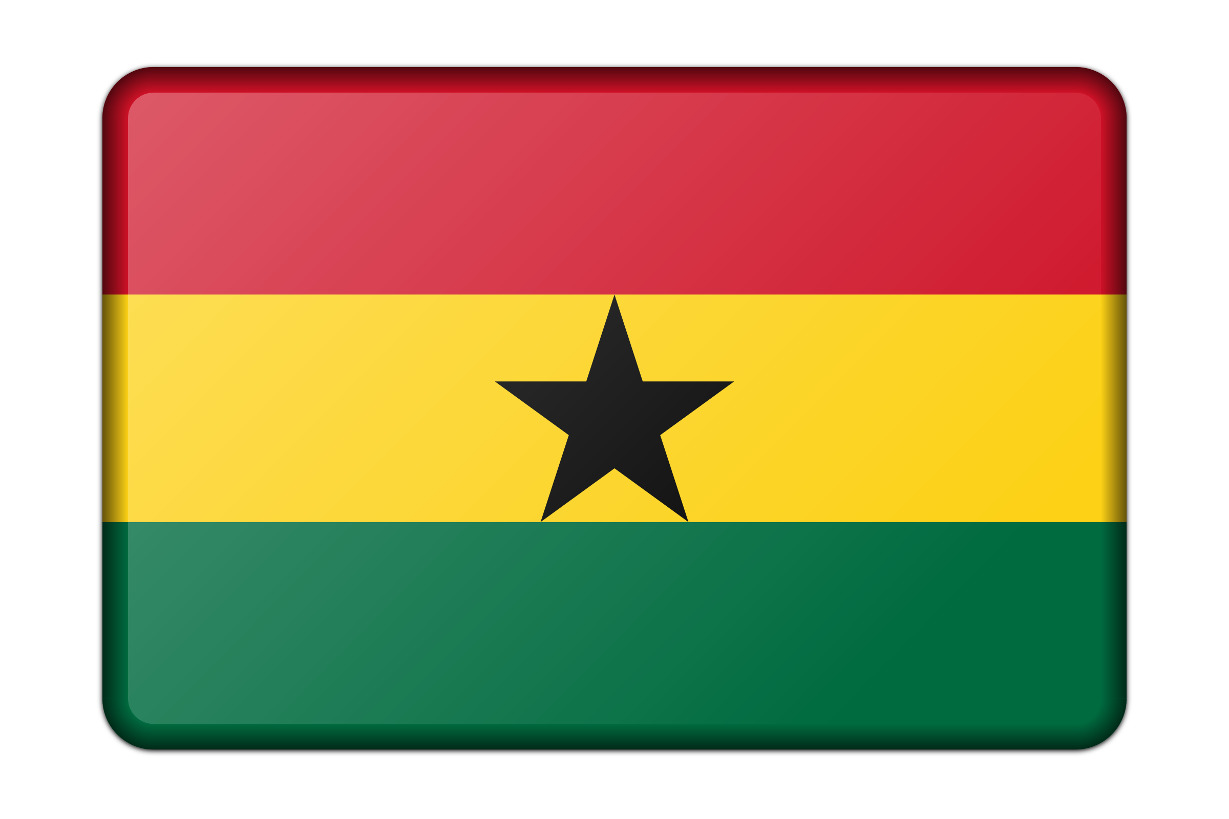 Ghana flag (bevelled) by Firkin