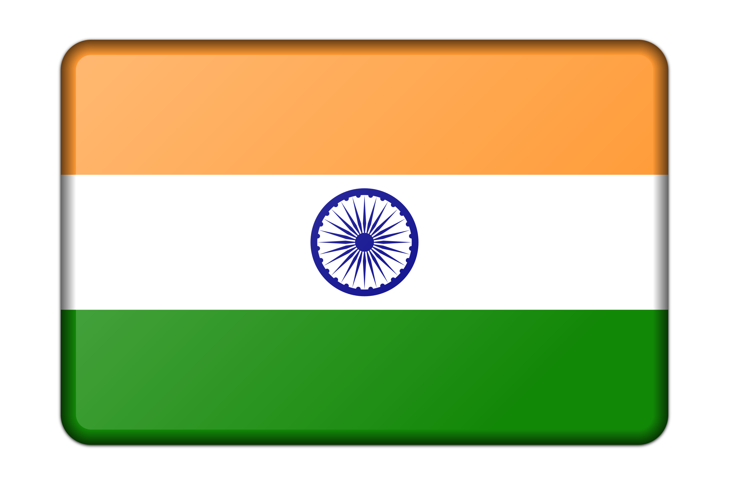 India flag (bevelled) by Firkin