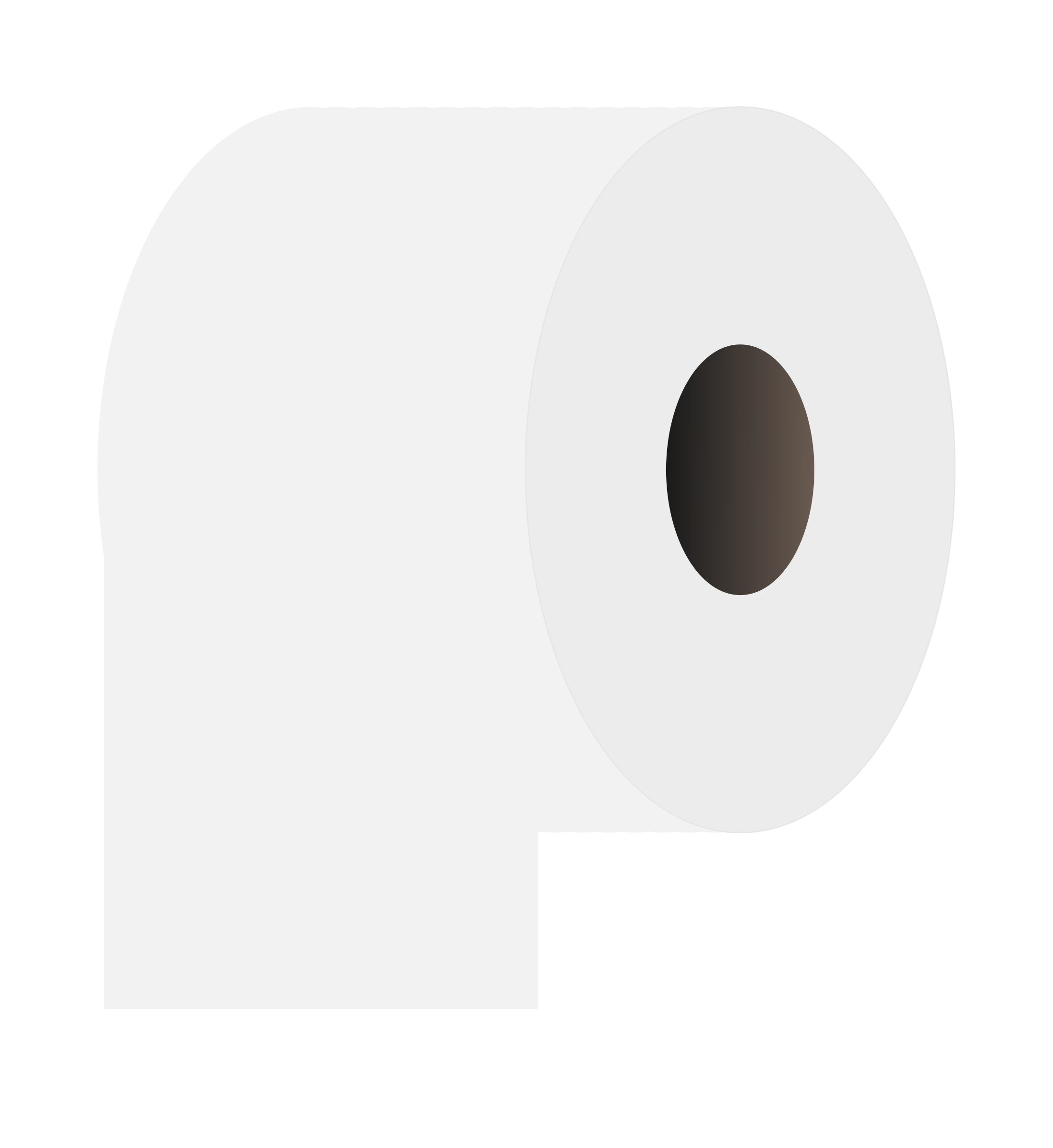 Clipart - Toilet paper roll white