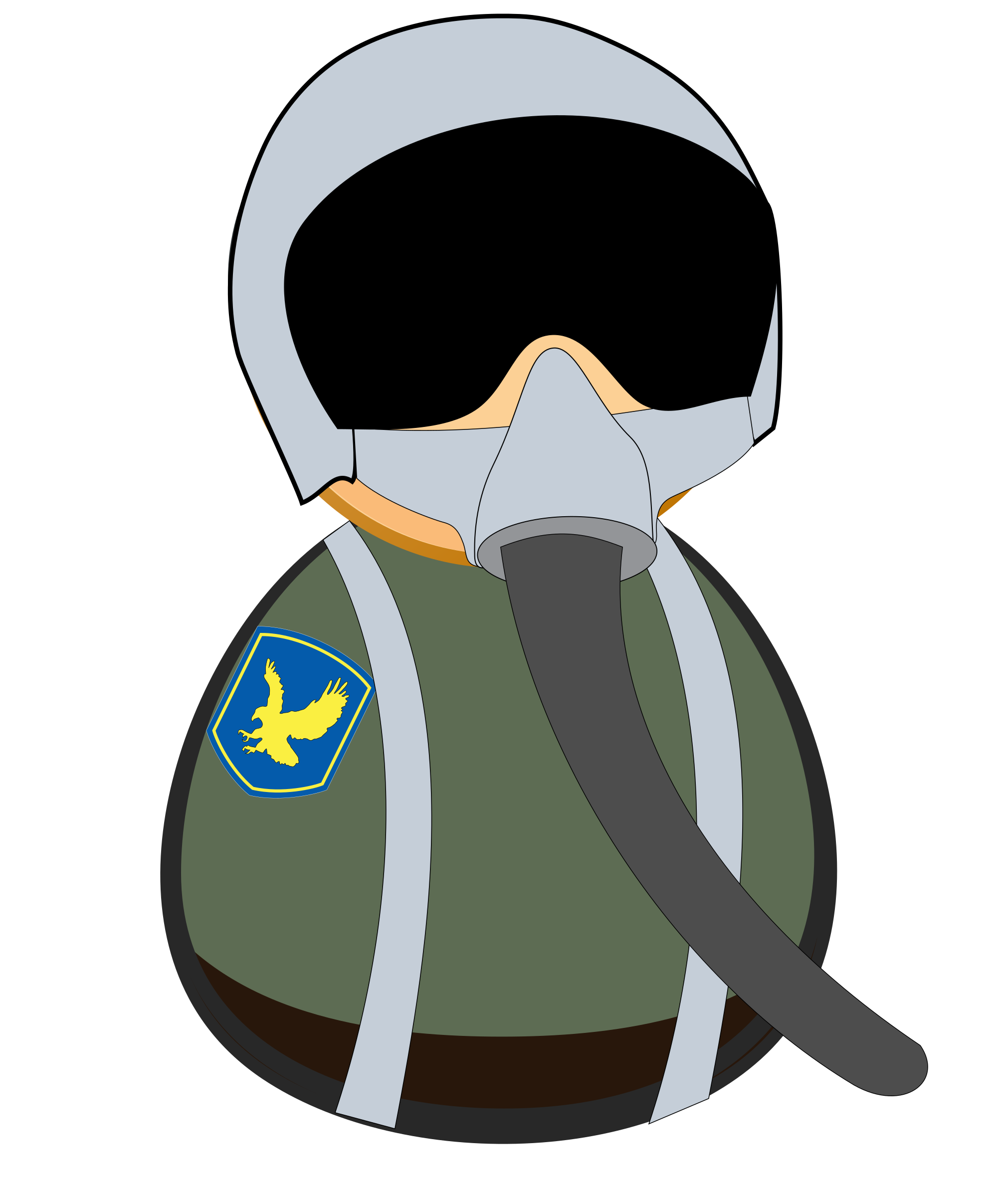 Fighter pilot icon by Juhele