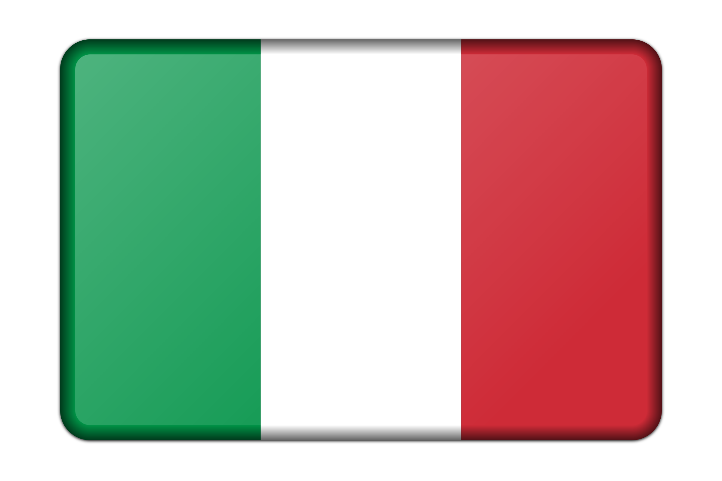 Italy flag (bevelled) by Firkin
