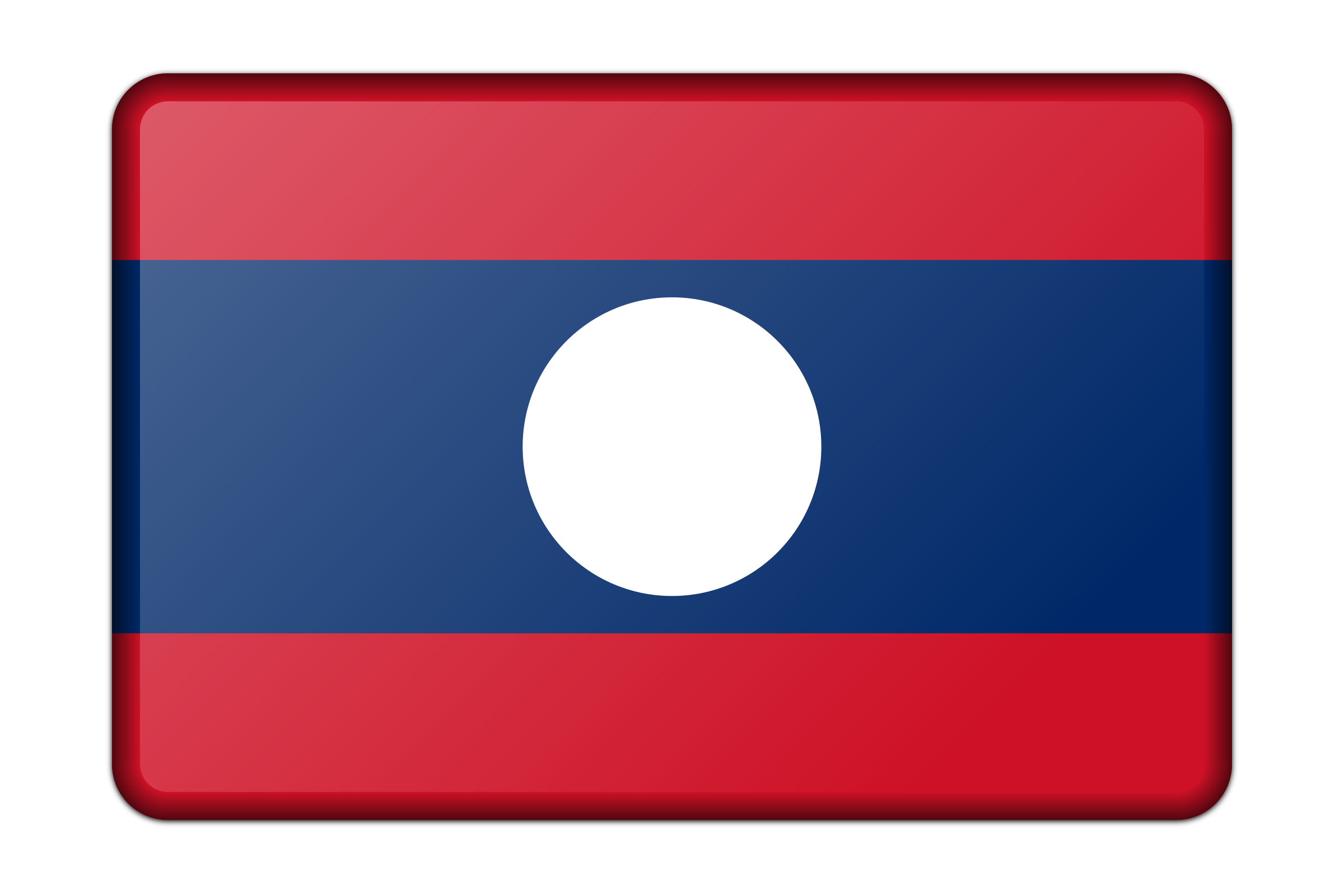 Laos flag (bevelled) by Firkin