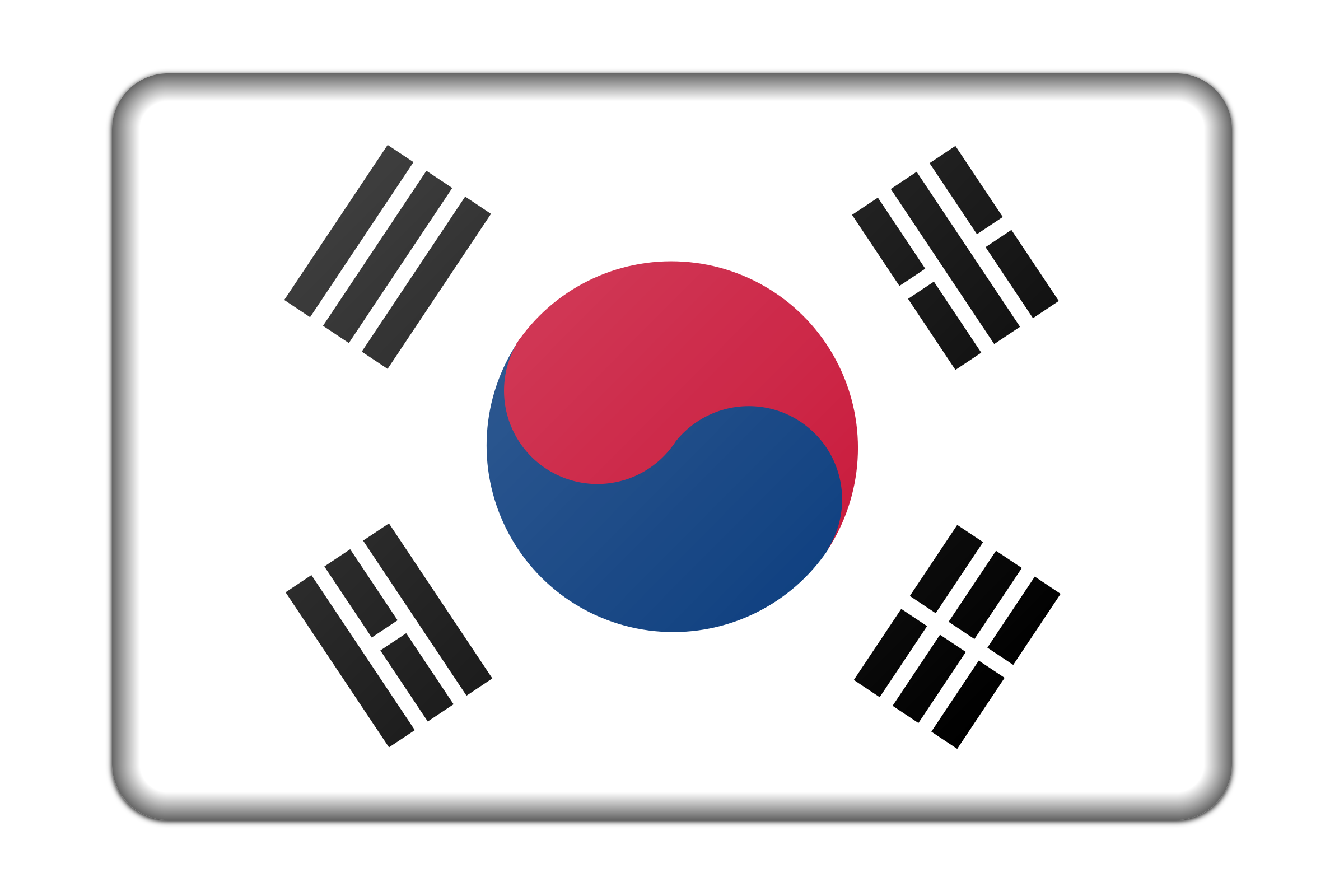 South Korea flag (bevelled) by Firkin