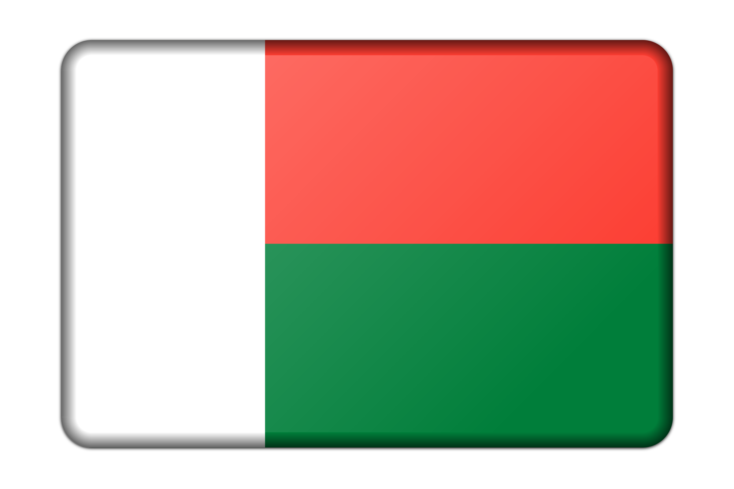 Madagascar flag (bevelled) by Firkin
