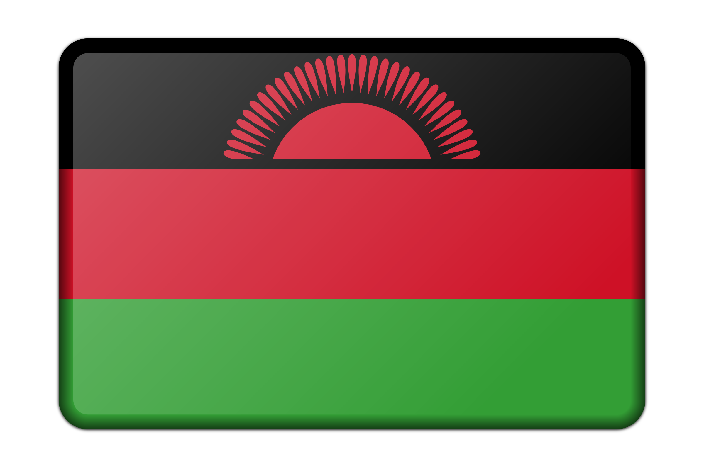 Malawi flag (bevelled) by Firkin