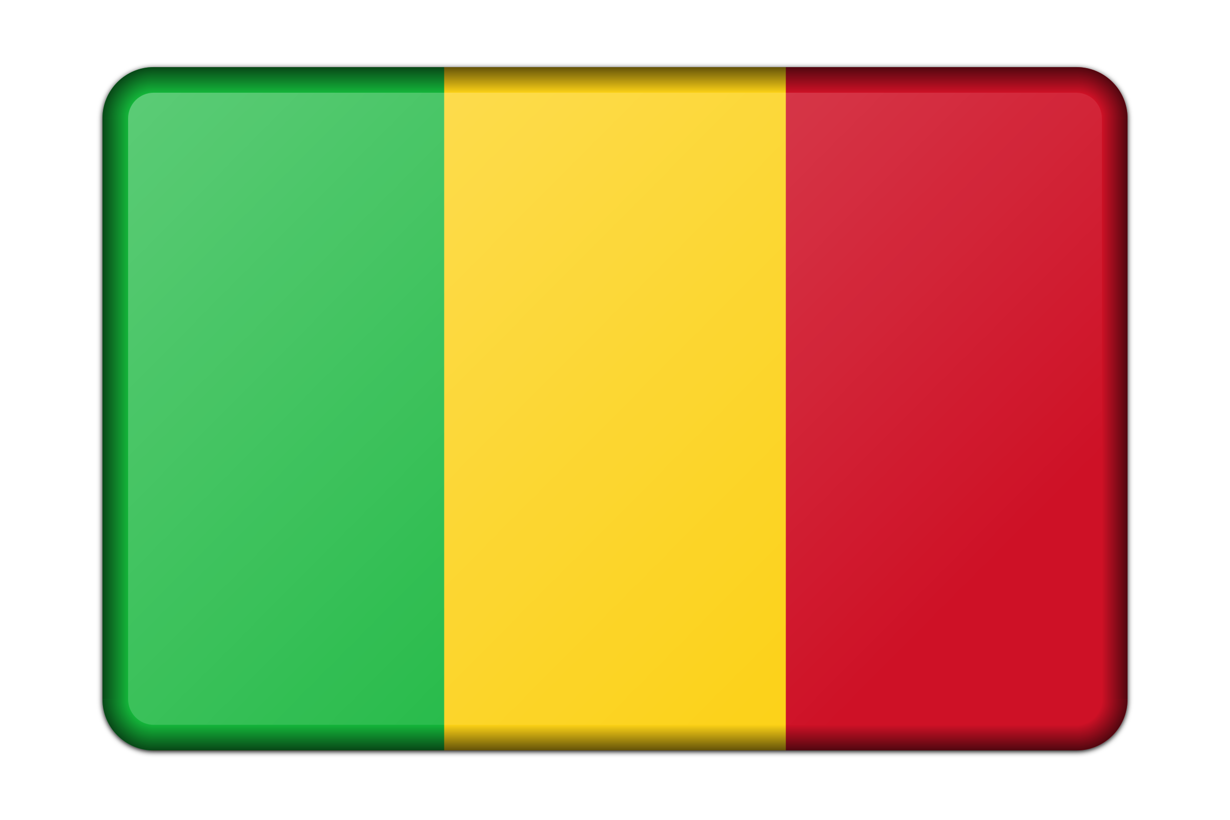 Mali flag (bevelled) by Firkin