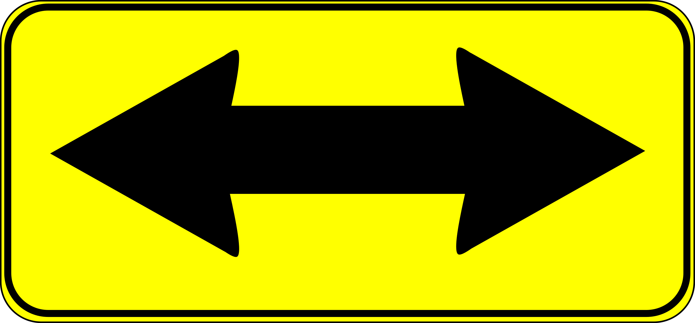 double arrow sign by Anonymous