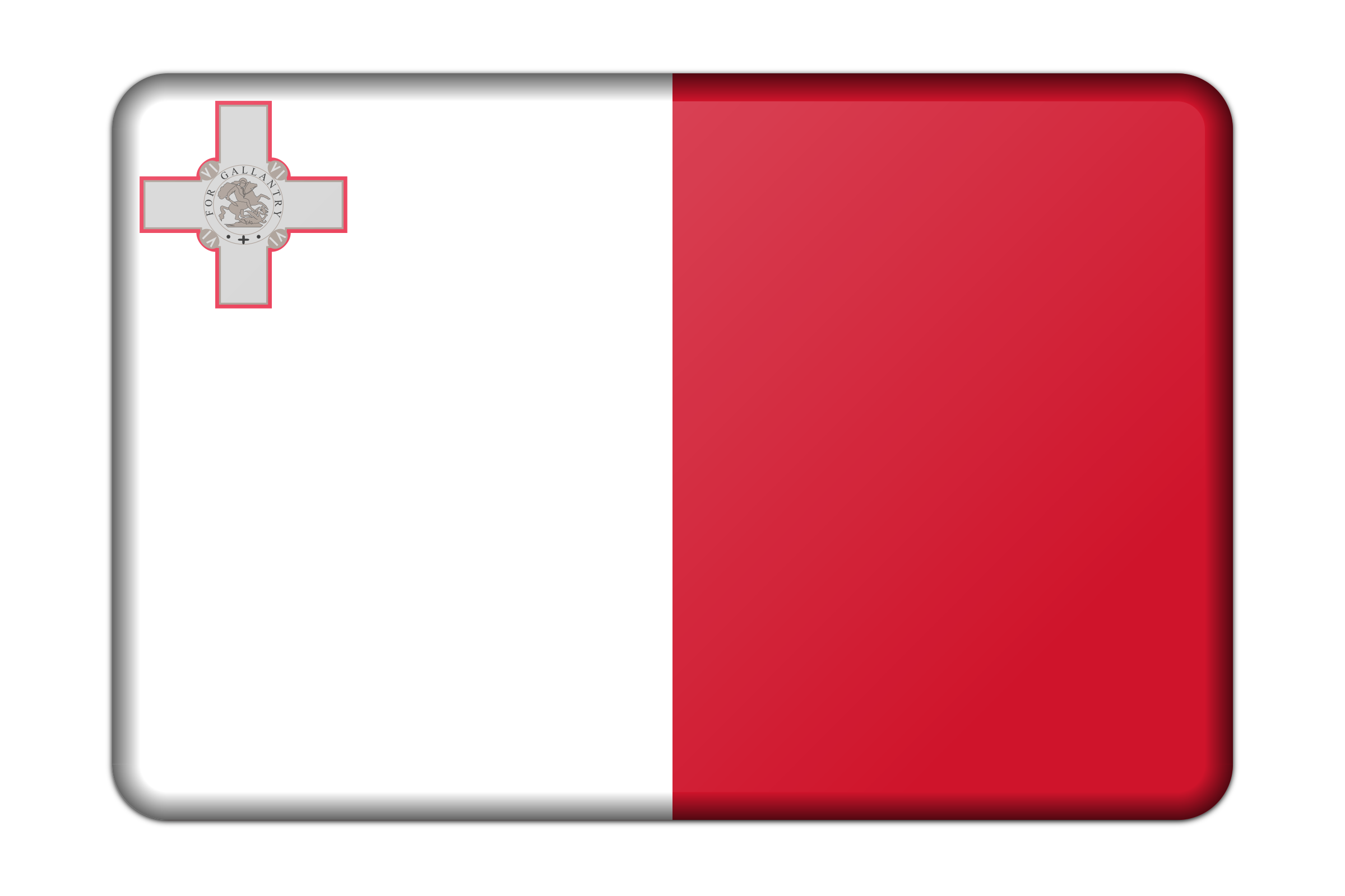 Malta flag (bevelled) by Firkin