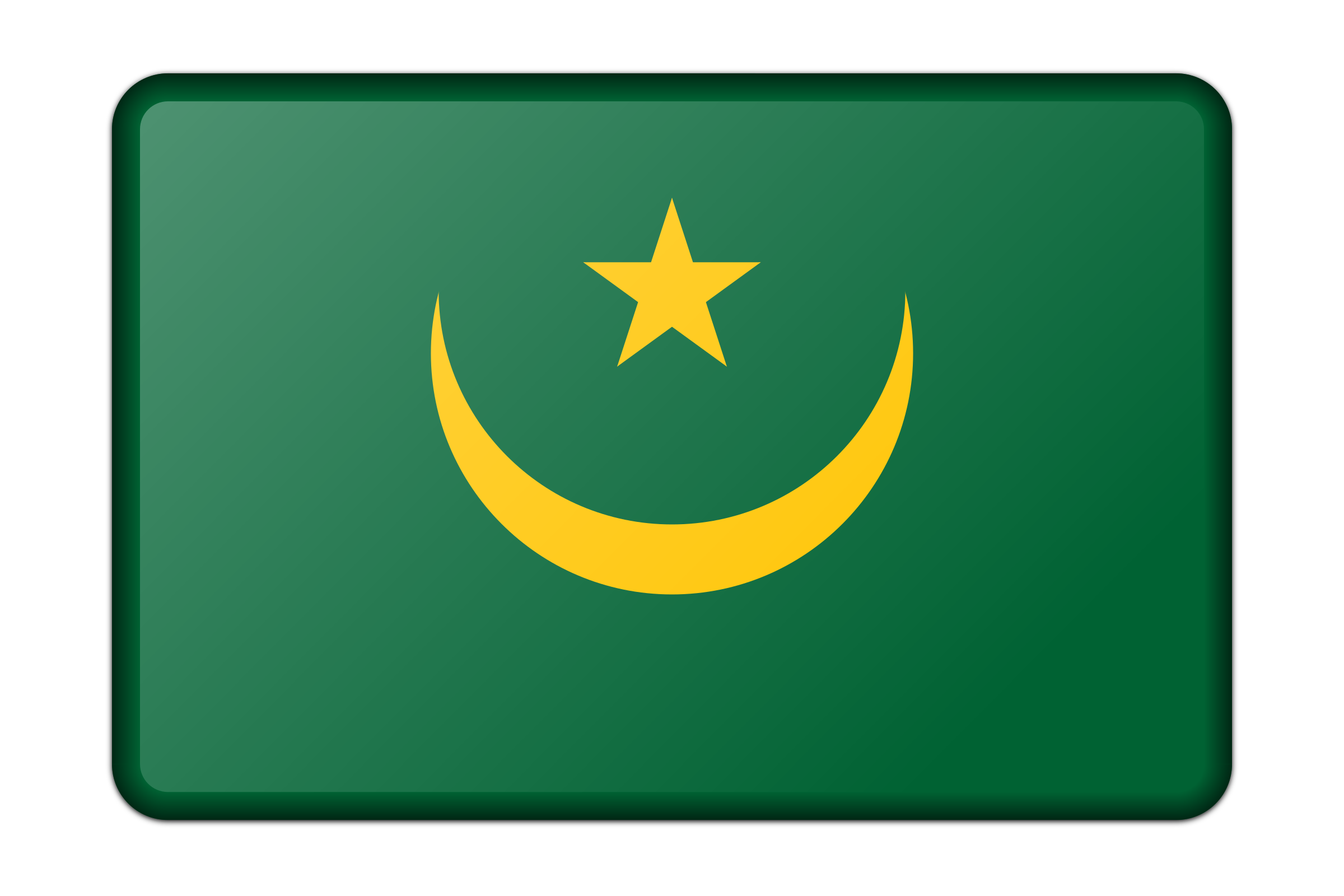 Mauritania flag (bevelled) by Firkin